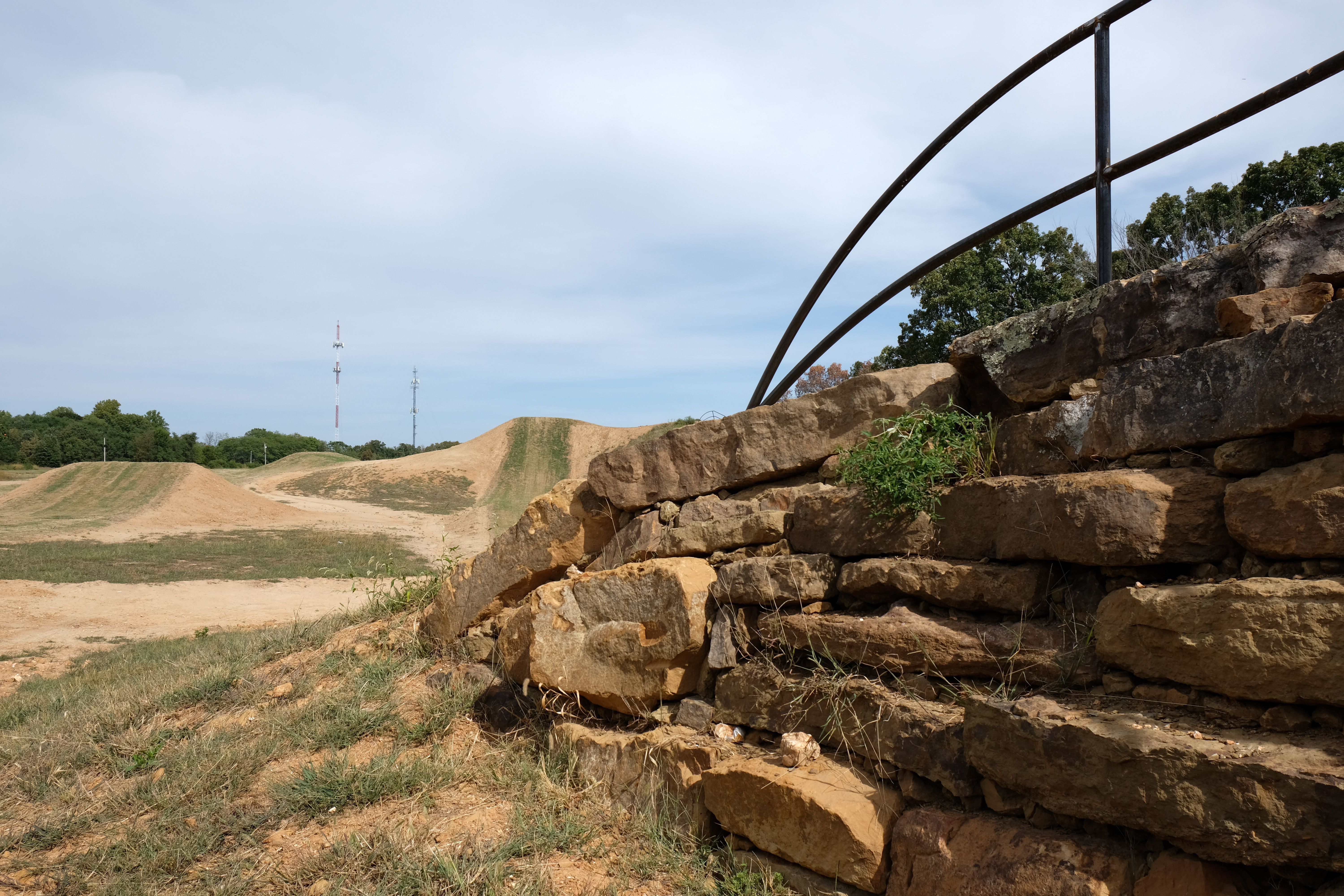 A view of some up and down hill features of the cyclo-cross course. Photo: Worth Sparkman/Axios