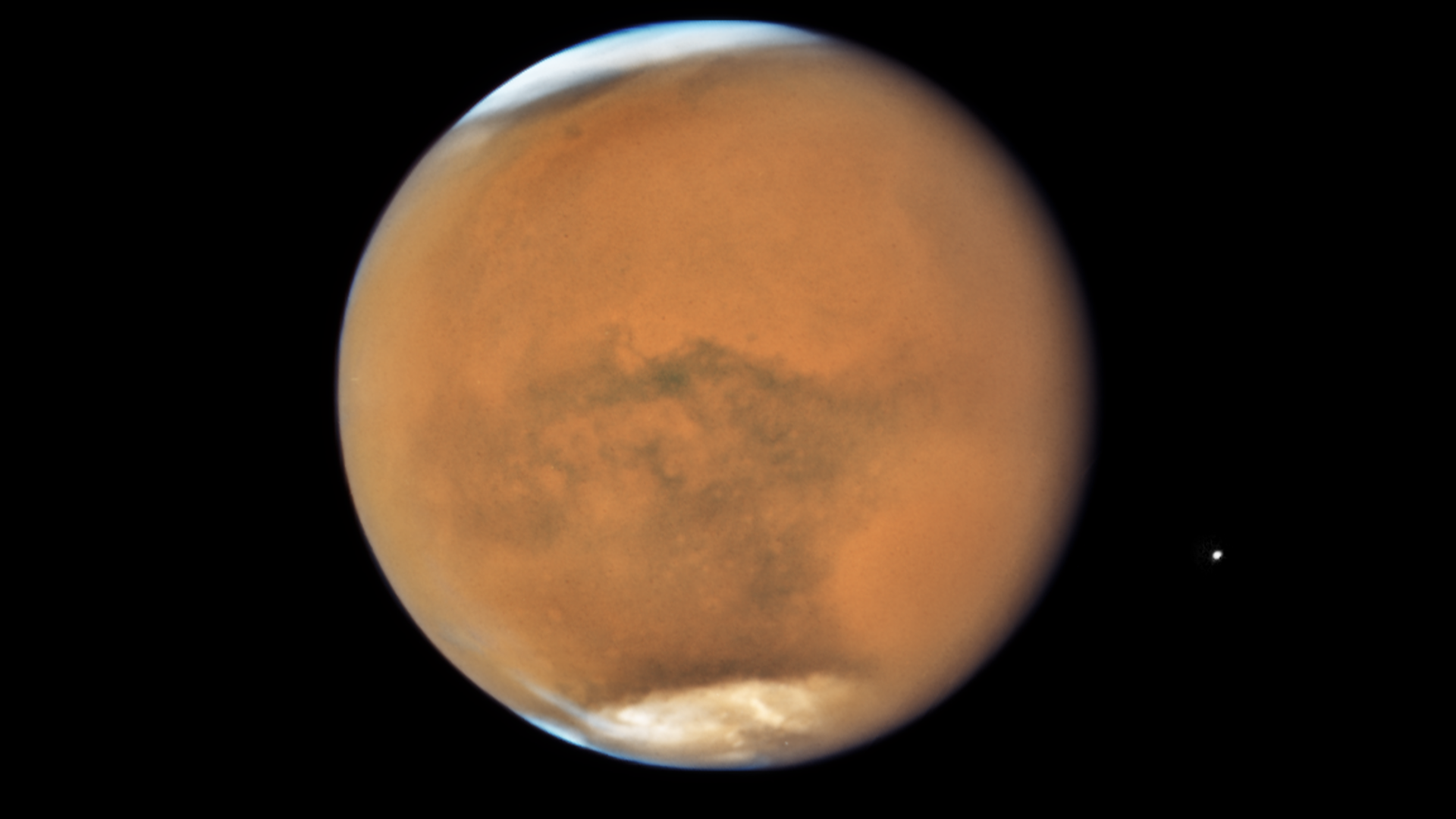 Mars seen by the Hubble Space Telescope. Photo: NASA/ESA/STScI