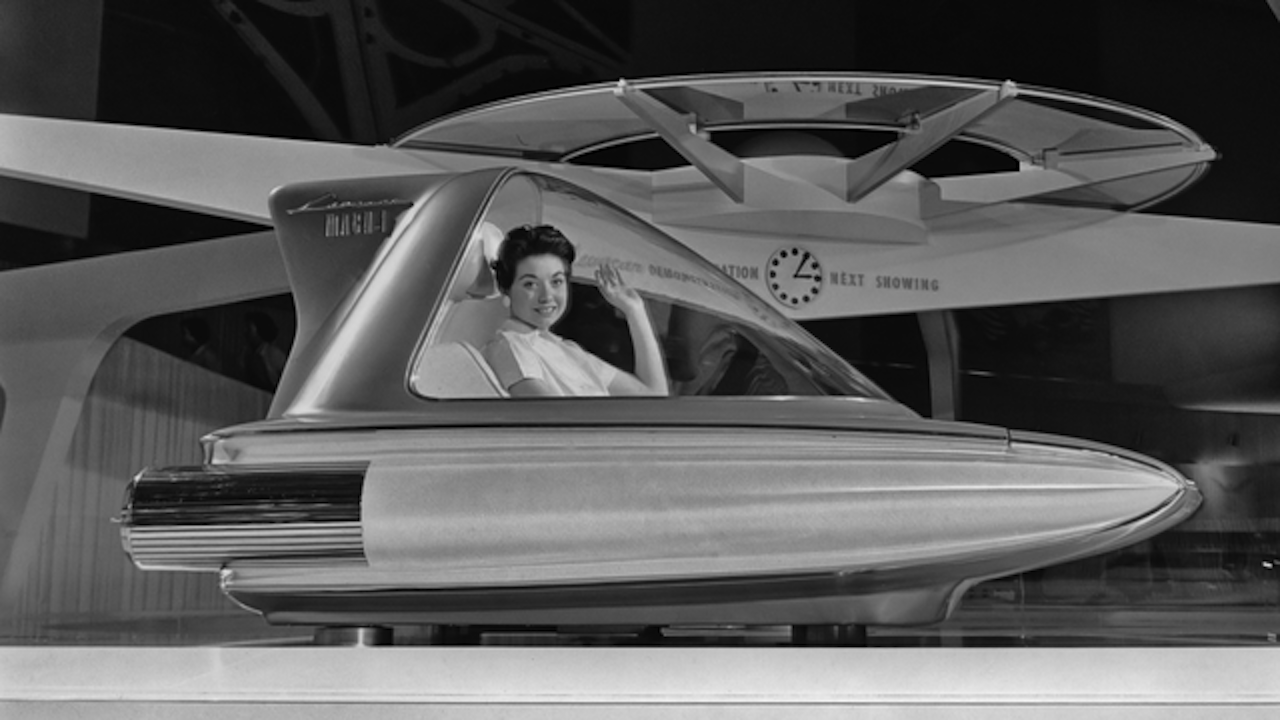 Photo of the 1959 Ford Mach I Levacar 1959 flying car that never went into production.