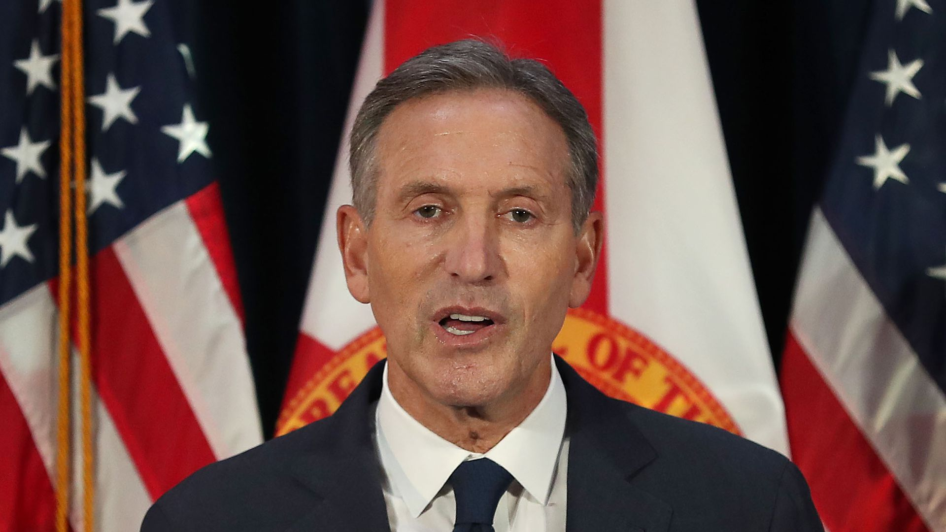 Howard Schultz says both parties should work together on legislation.