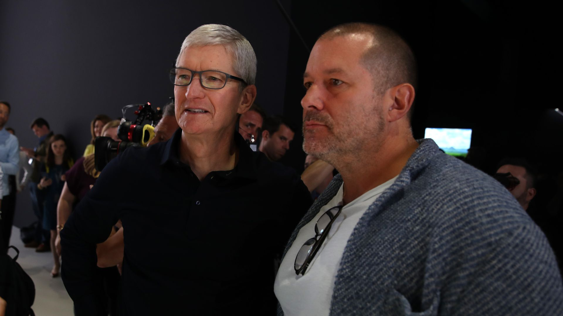 Tim Cook and Jony Ive