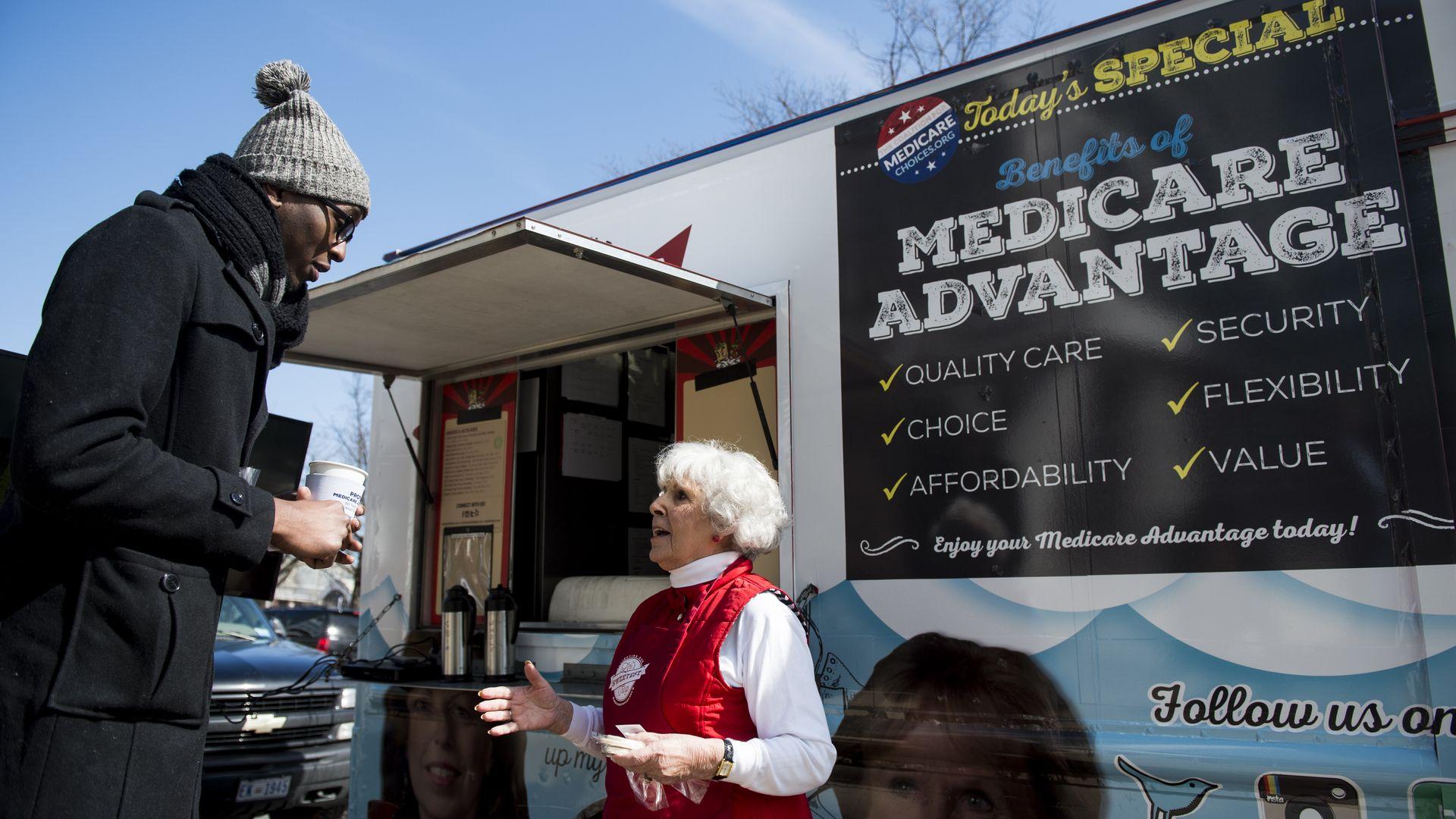 Truck advertising Medicare Advantage