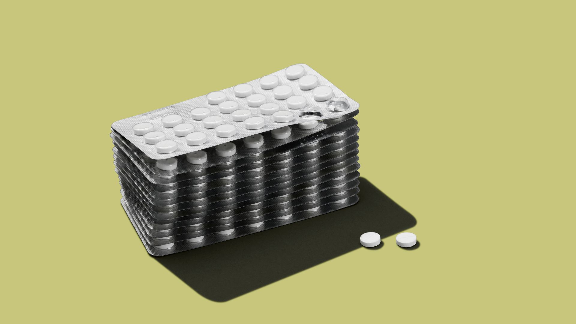 Prescription medicine staked on top of each other