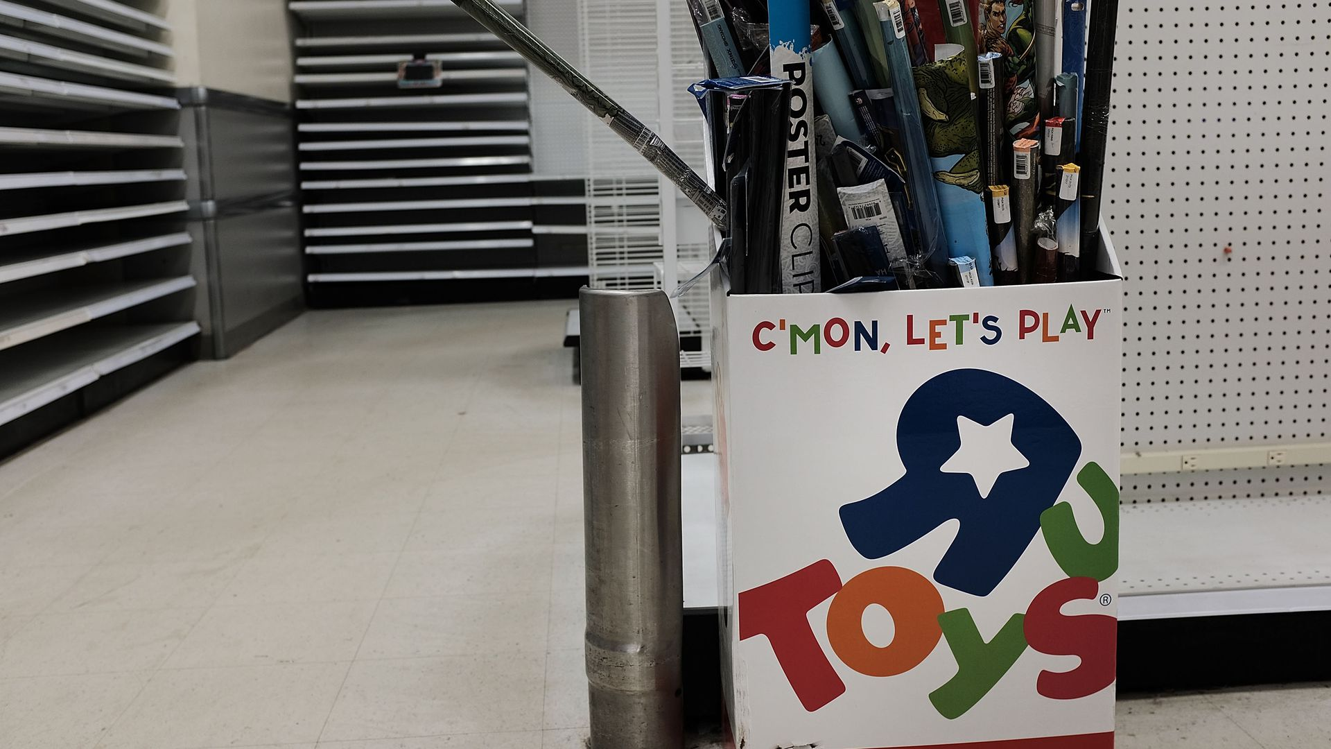 "An empty Toys ""R"" Us store."