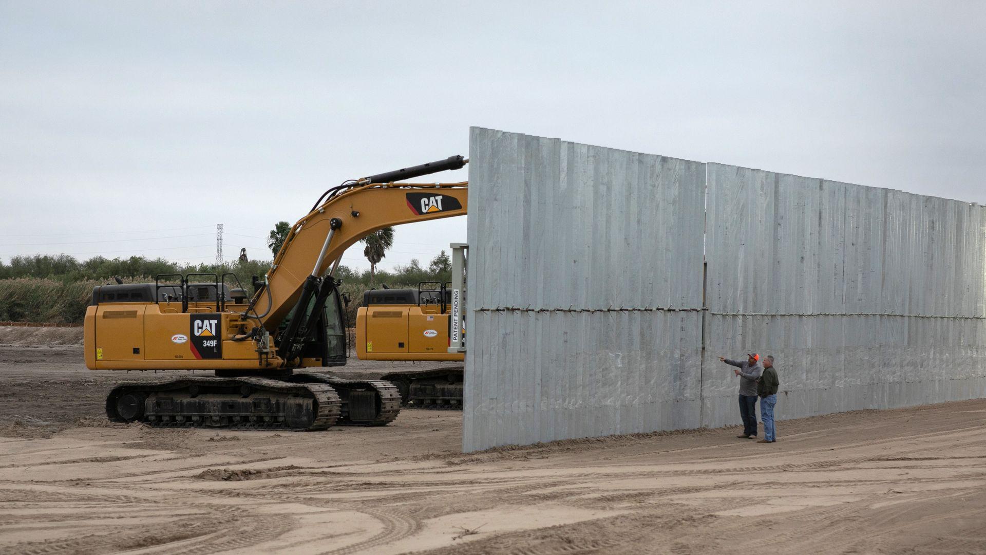 Border wall construction at the U.S.-Mexico border
