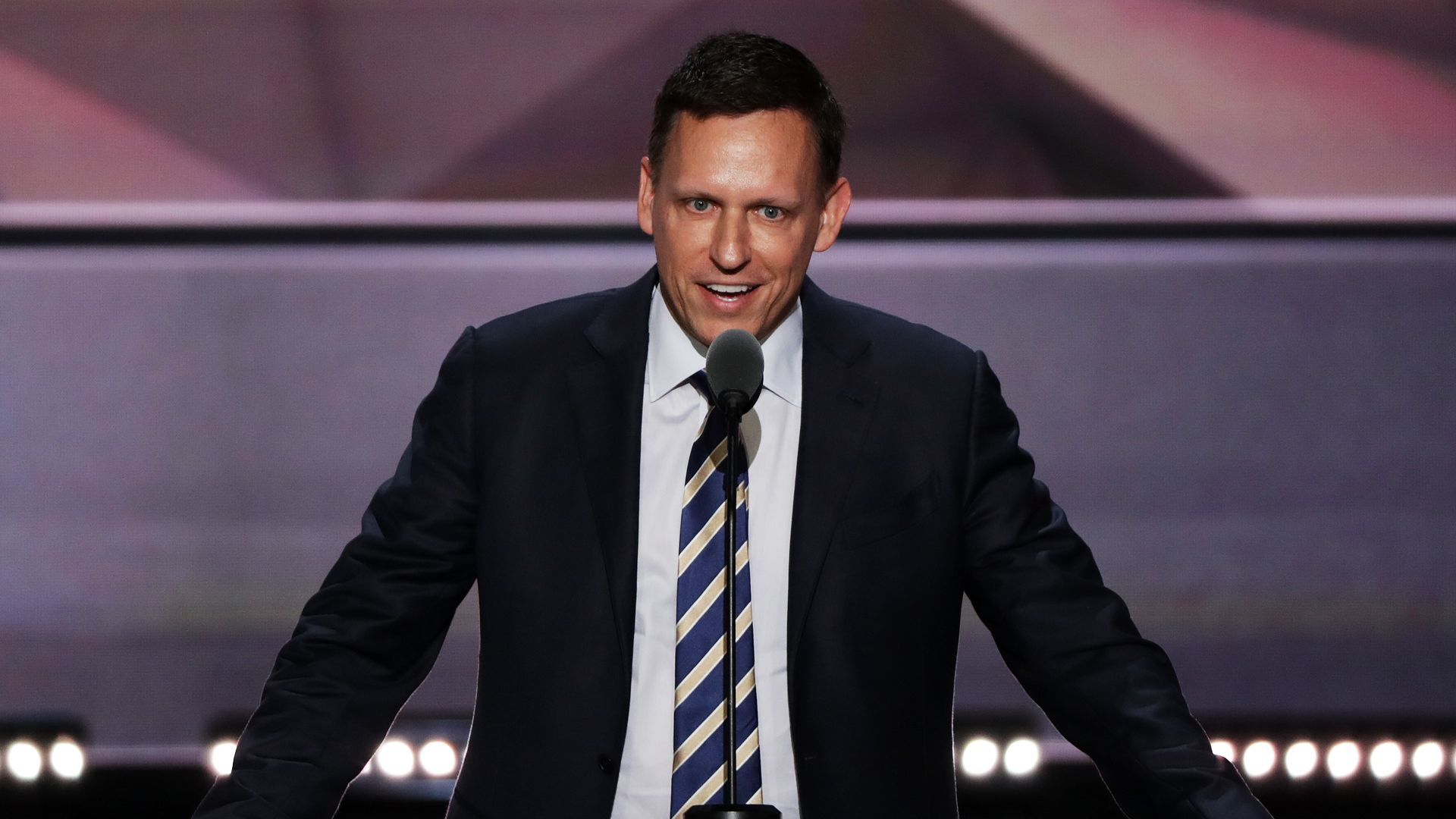 Peter Thiel speaking at the 2016 Republican National Convention.