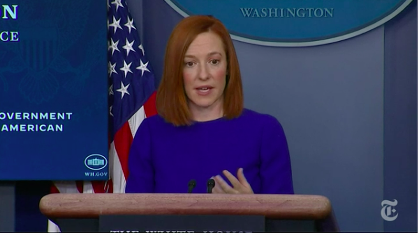 "Press secretary Jen Psaki: ""With that I'd love to take your questions"" thumbnail"