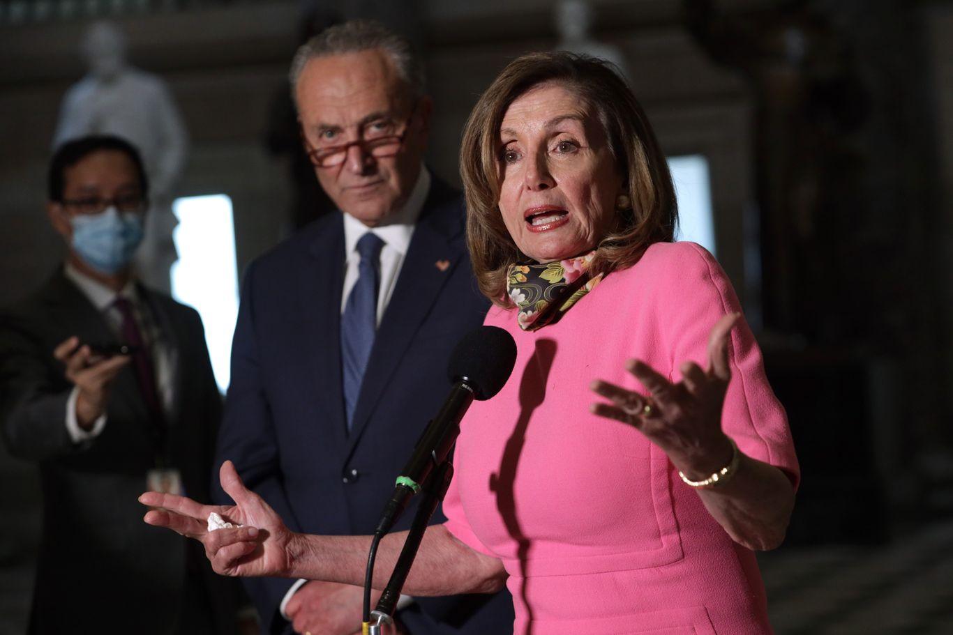 """Pelosi, Schumer: Senate GOP's skinny coronavirus bill """"is headed nowhere"""" thumbnail"""