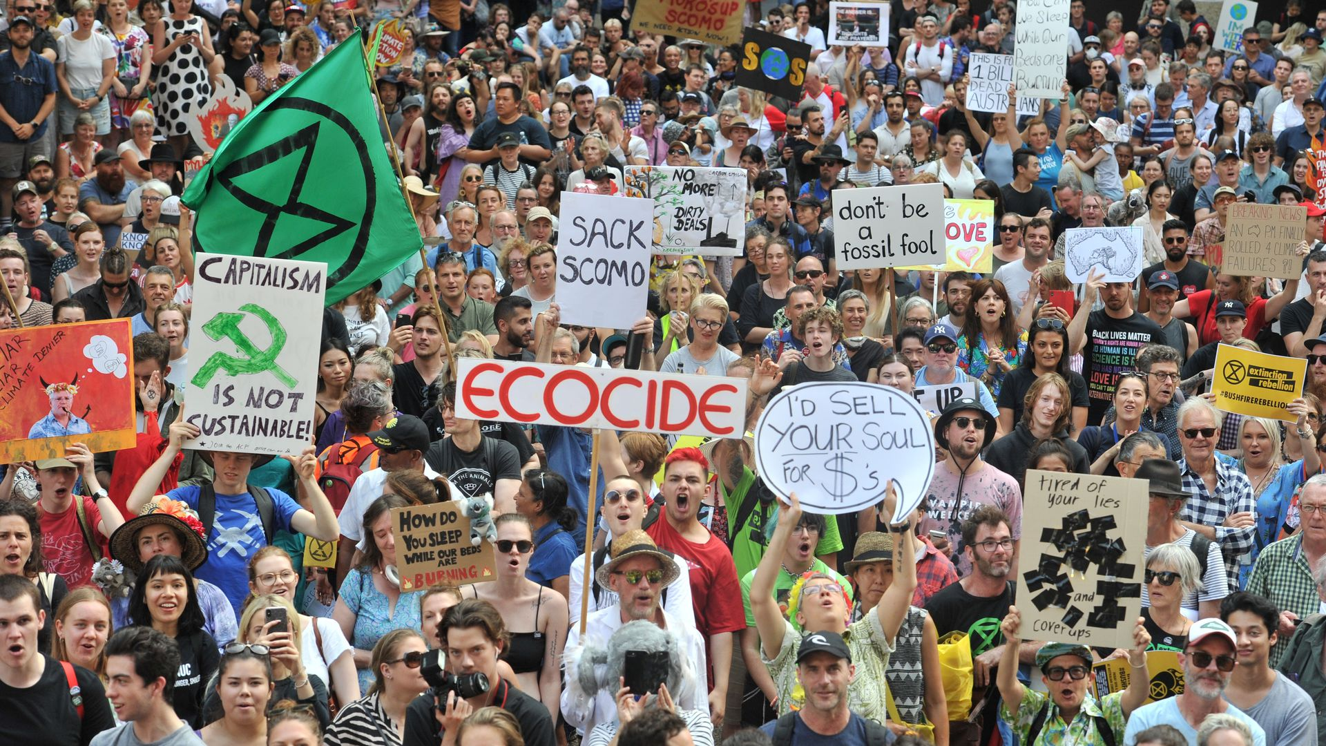 Climate protests in Sydney, Australia.