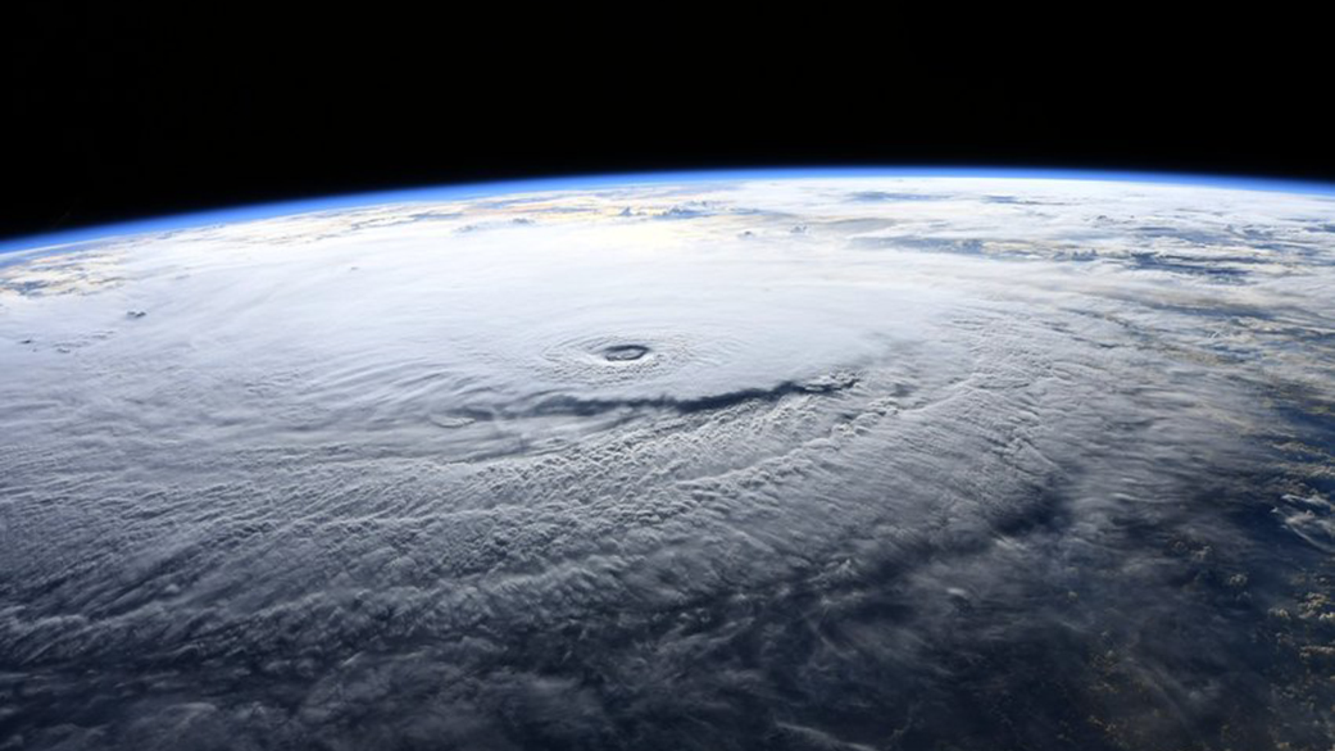 NASA astronaut Ricky Arnold photographed Hurricane Lane during a flyover on Aug. 22, 2018.