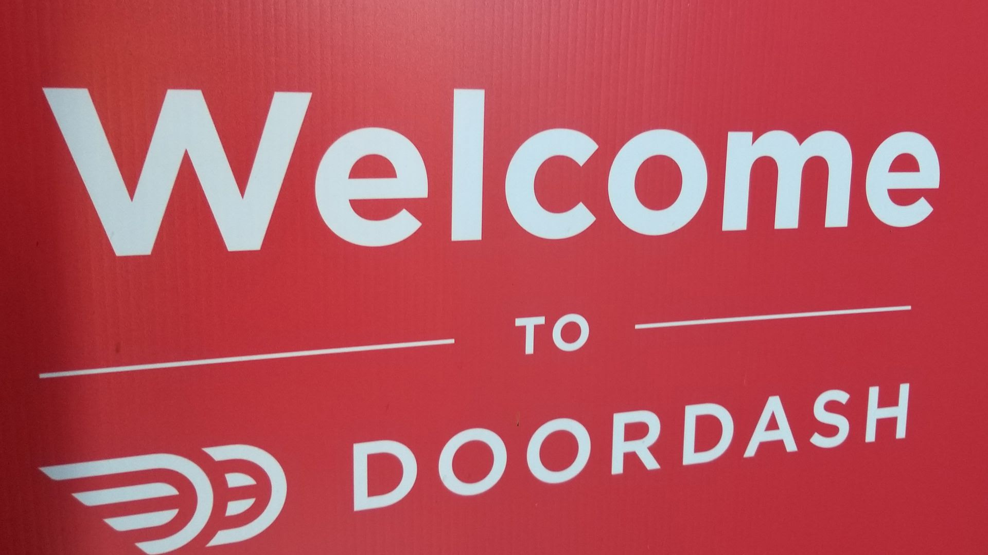 Doordash sign and logo