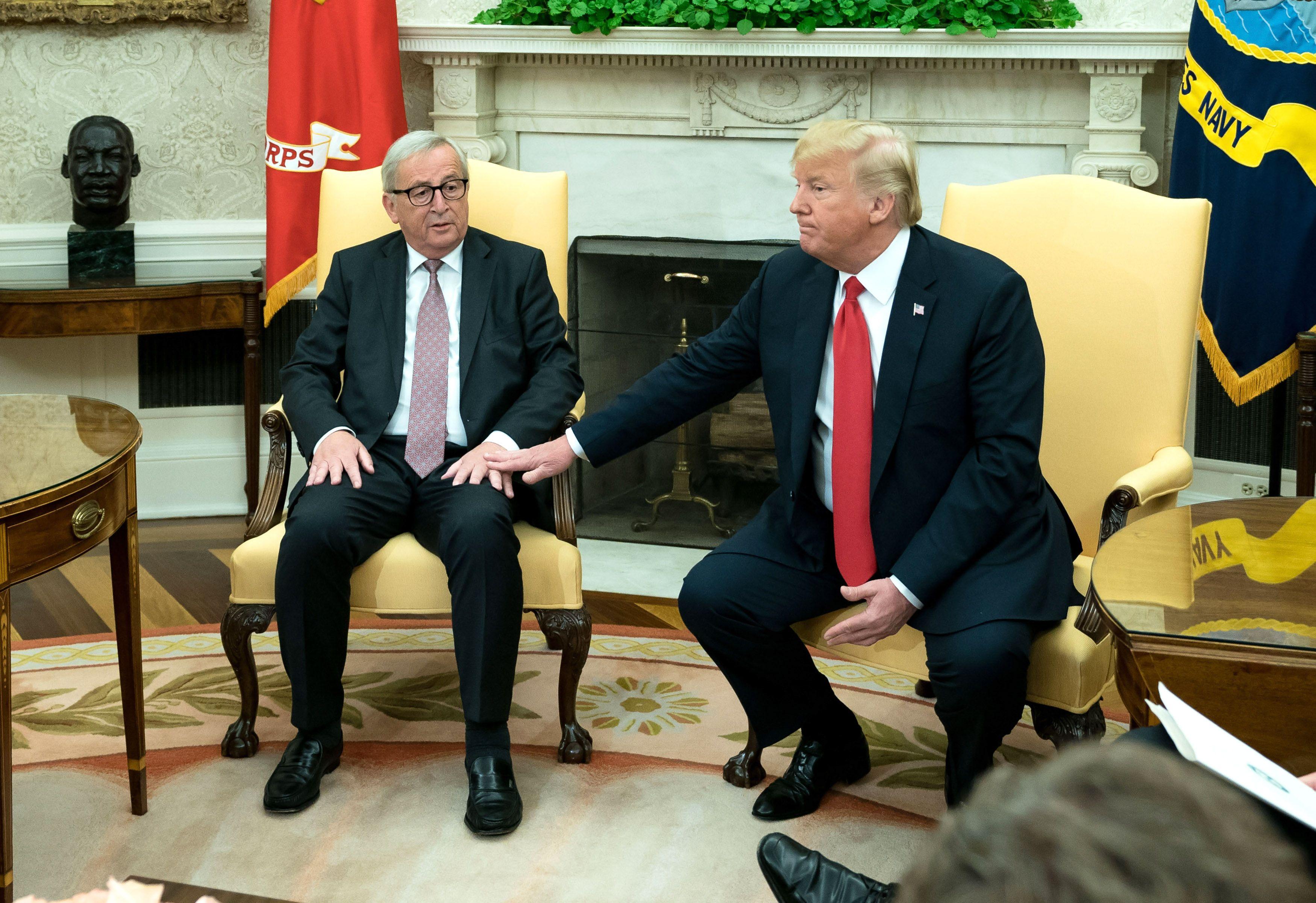 Trump and EU call trade war truce - Axios