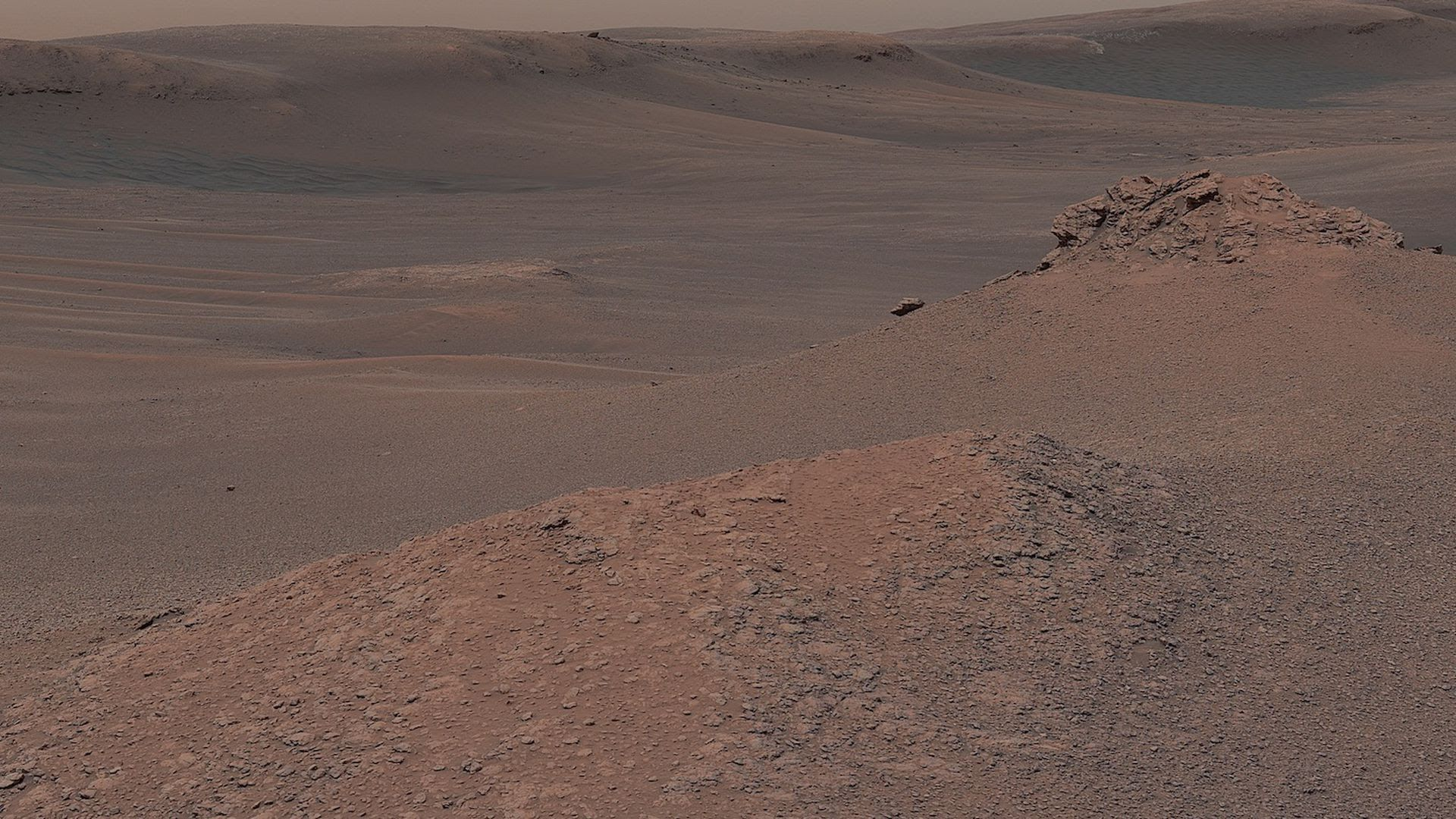 Mars as seen by the Curiosity rover