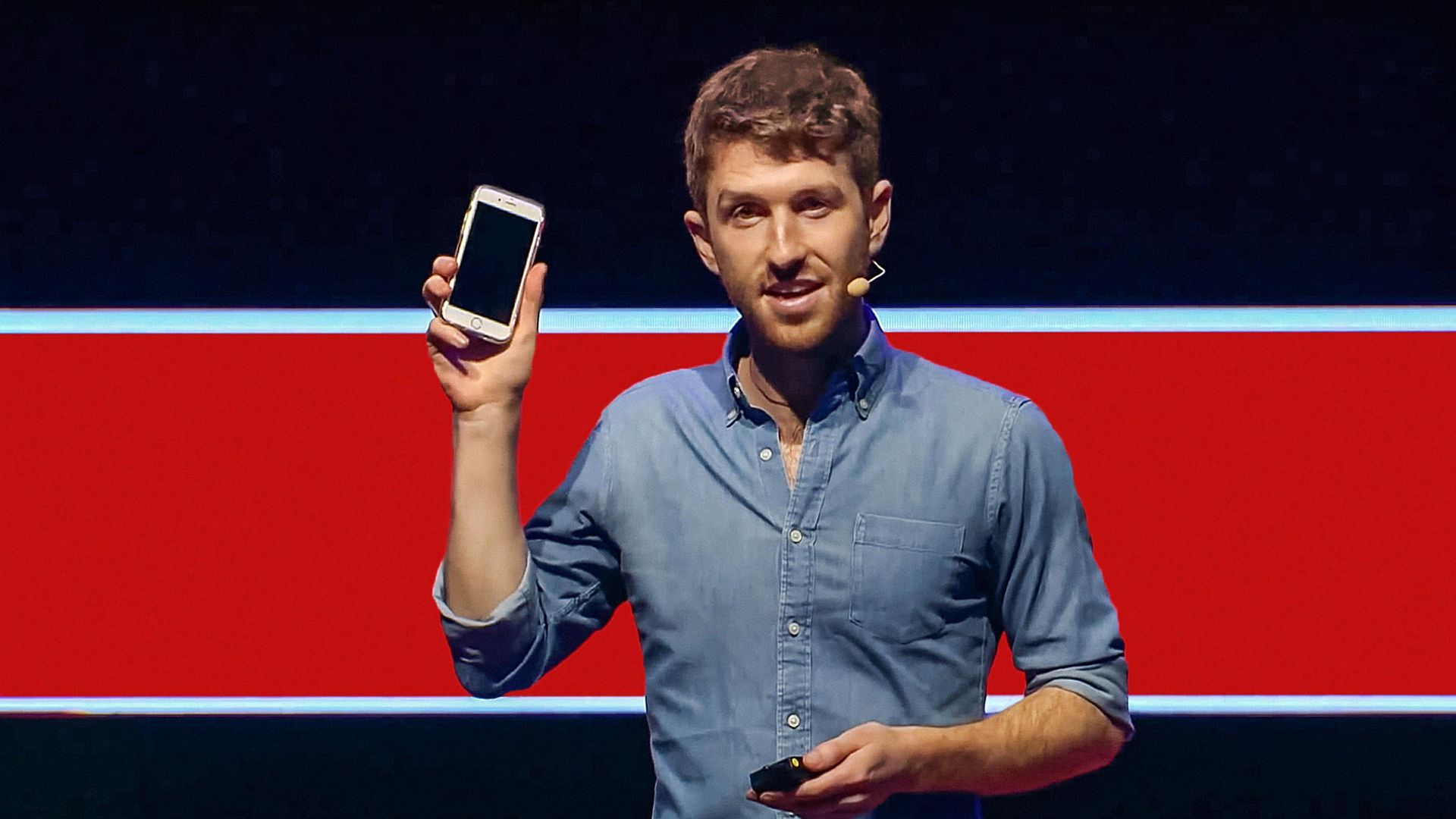 Tristan Harris, speaking at TED