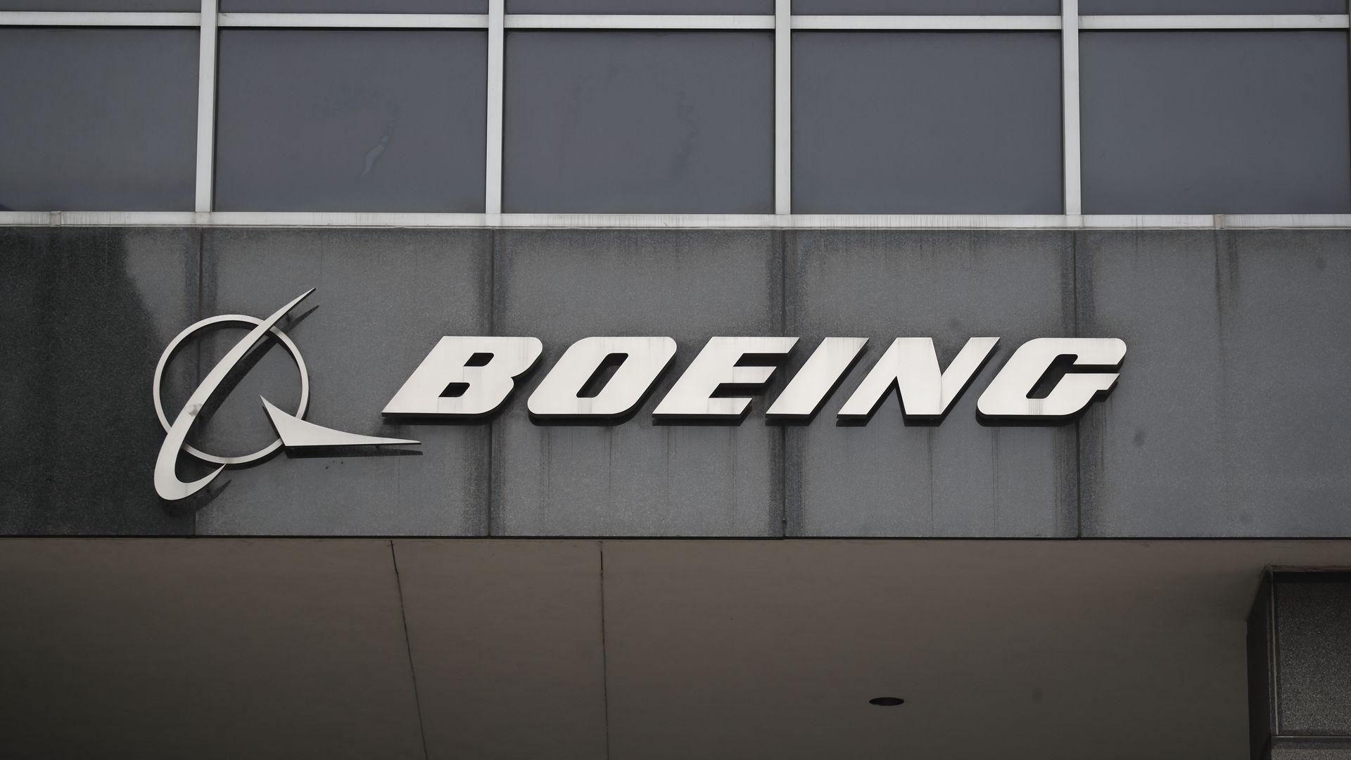Boeing's logo.