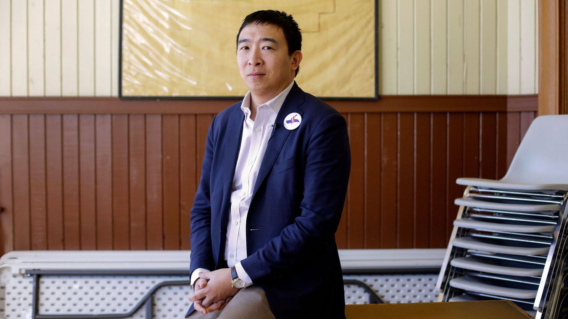 Democratic presidential candidate and businessman Andrew Yang