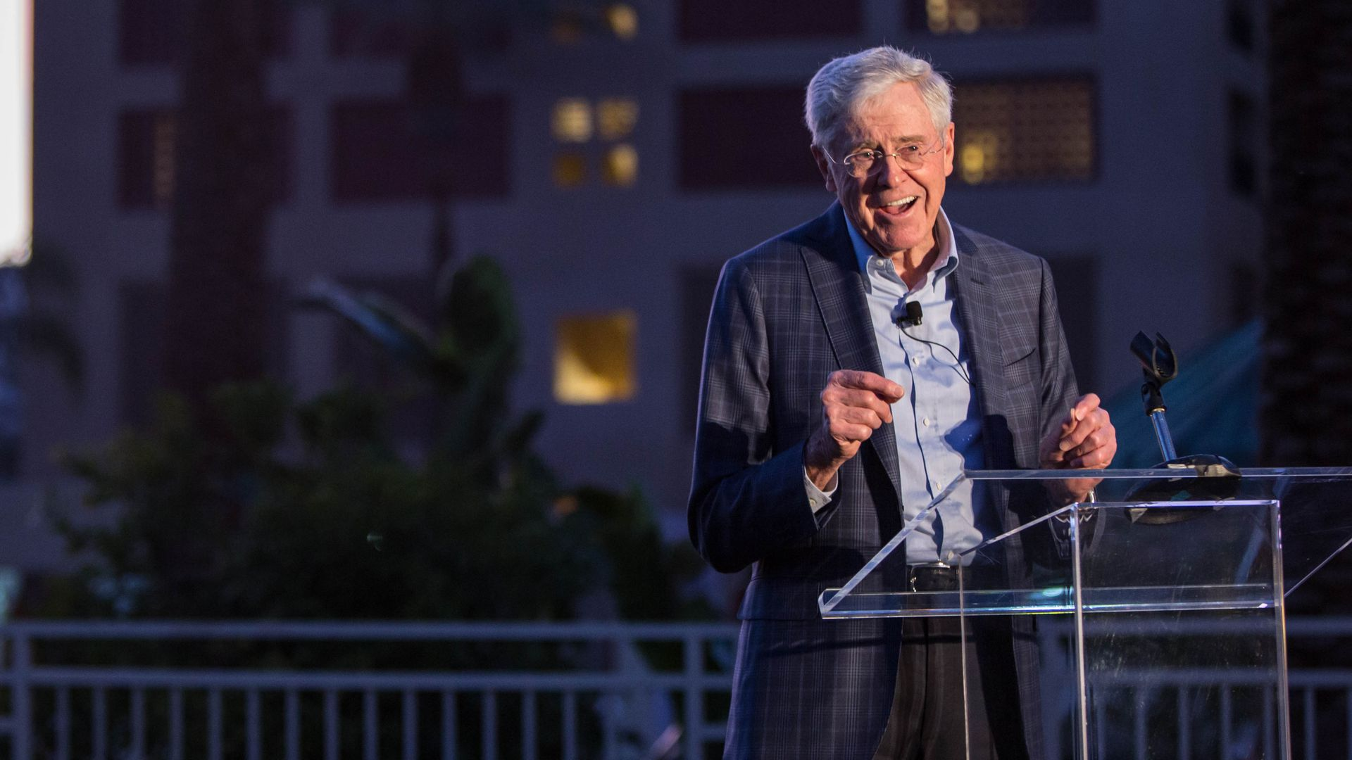 Charles Koch speaks at the network's 2018 winter seminar. Photo: Seminar Network.
