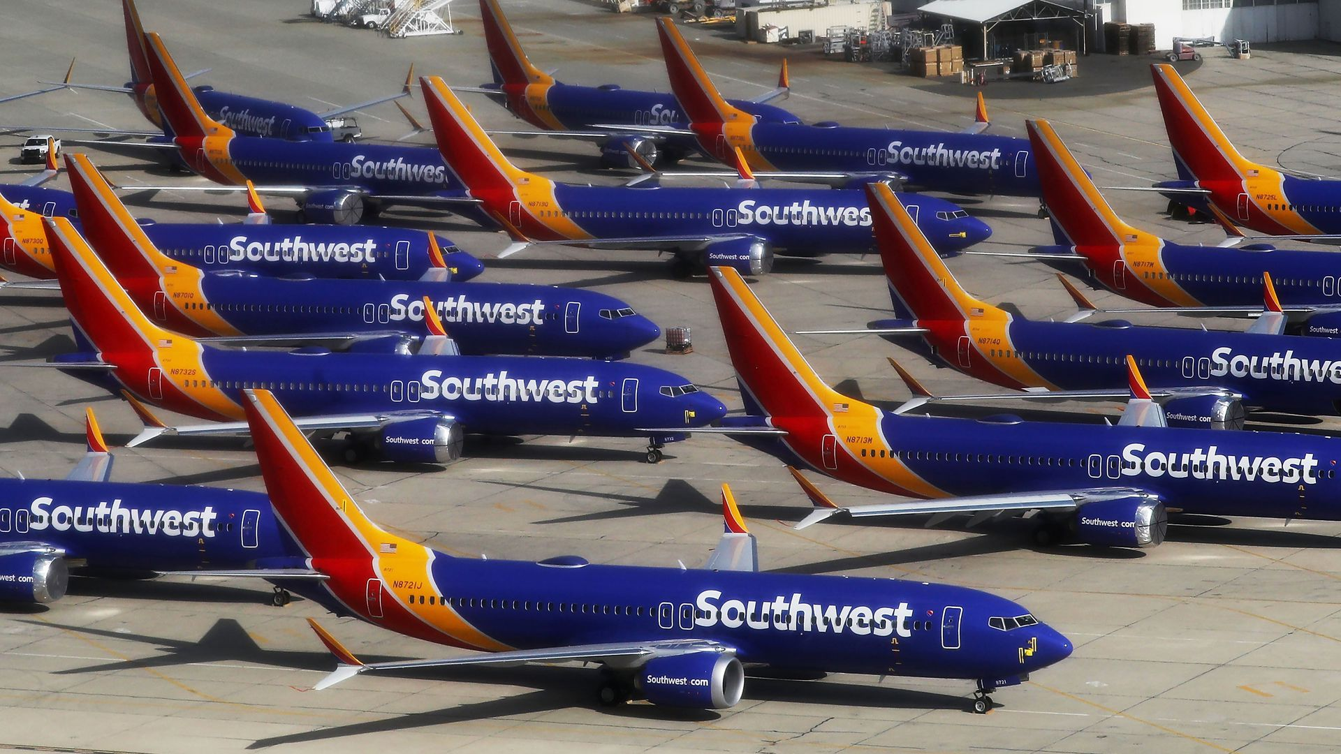 Southwest Airlines' Boeing 737 MAX aircraft.
