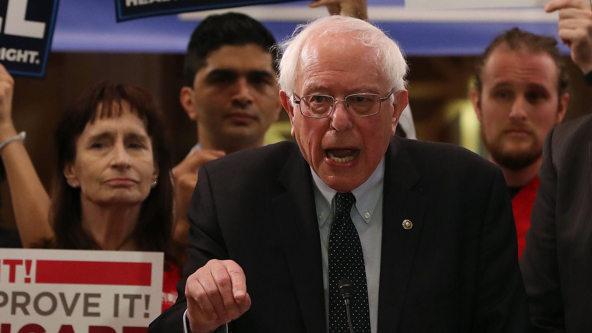 Sen. Bernie Sanders speaking about Medicare