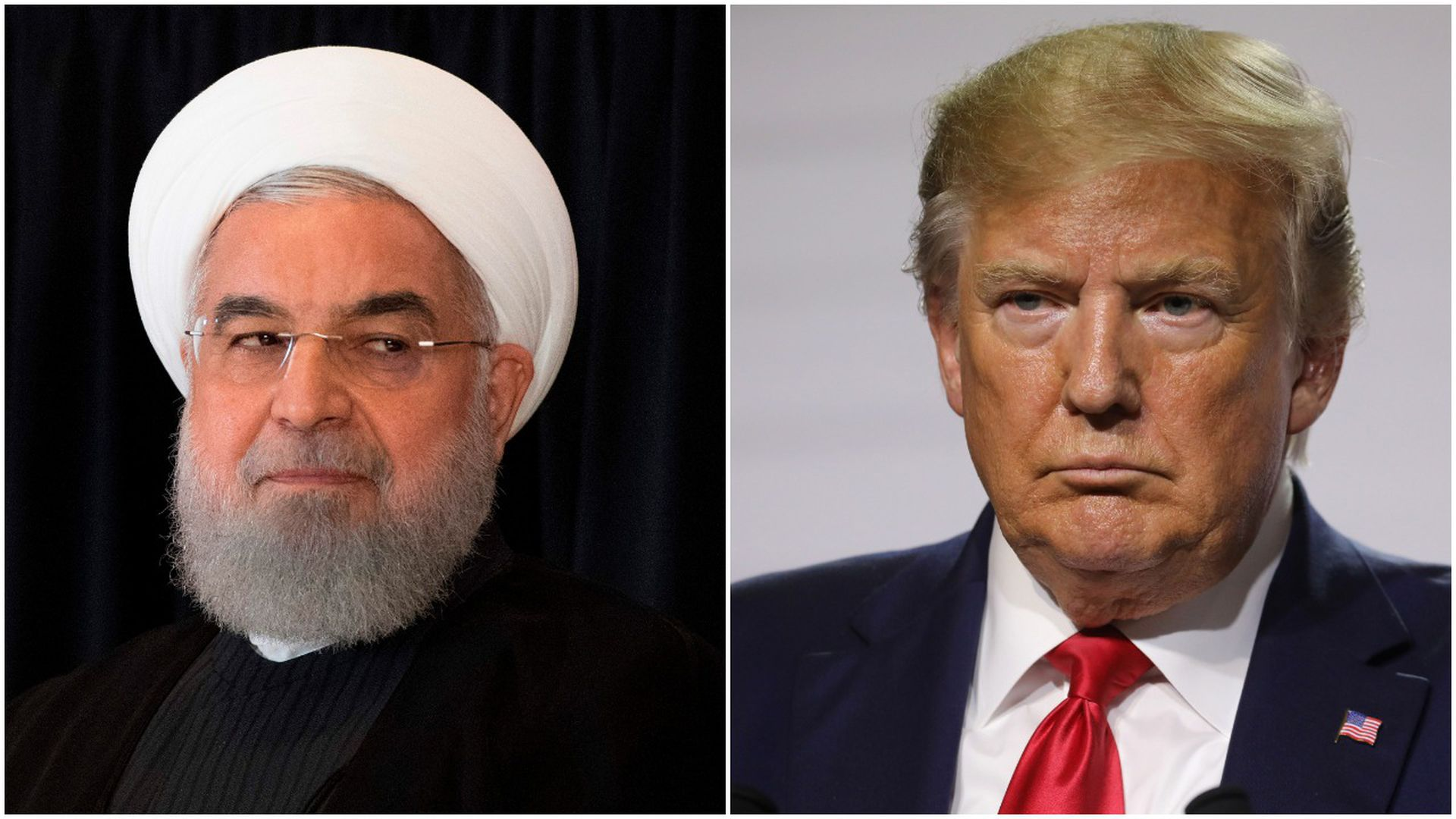 Iranian President Hassan Rouhani and U.S. President Donald Trump