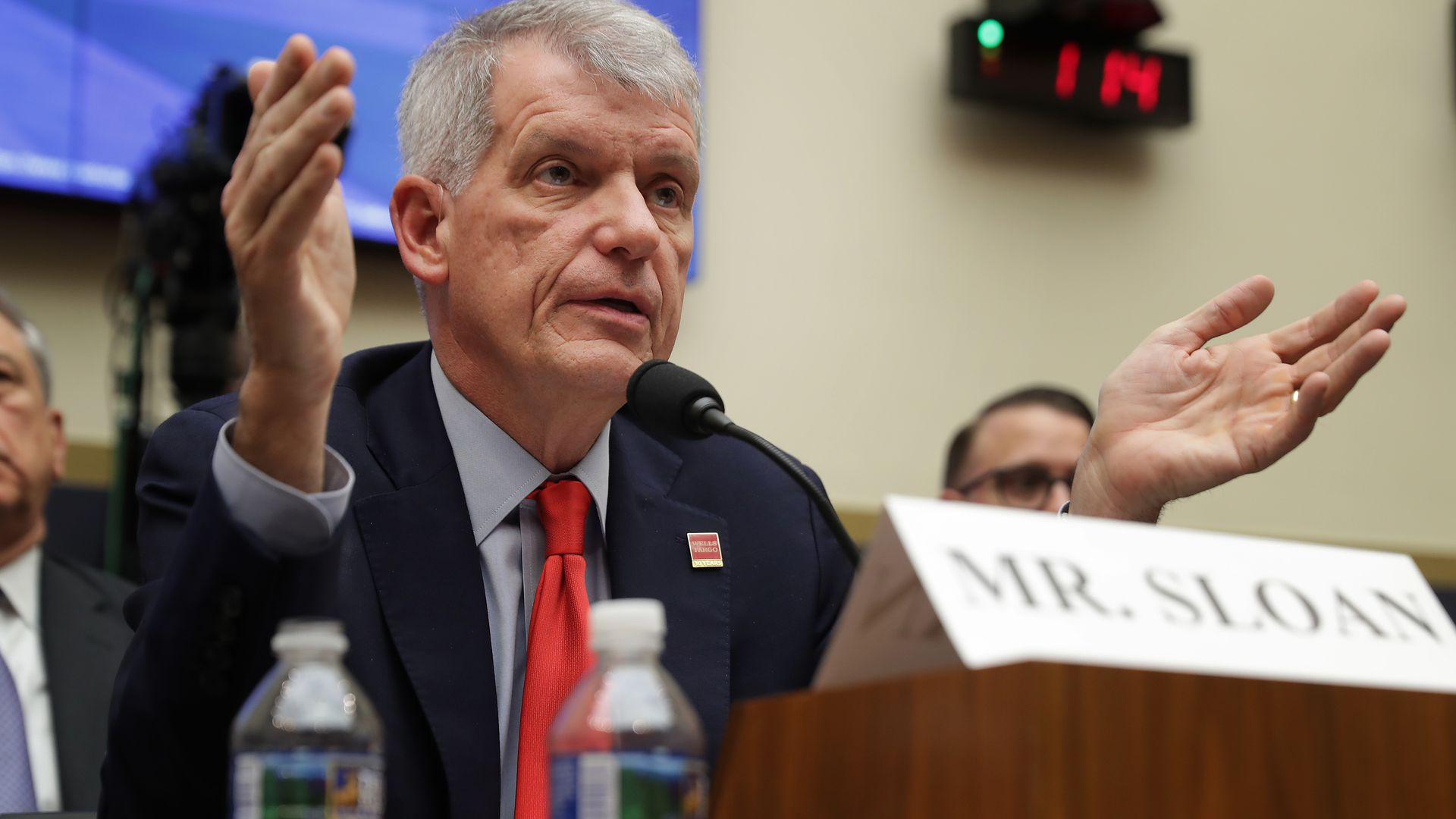 Wells Fargo and Company CEO Timothy Sloan testifies before the House Financial Services Committee