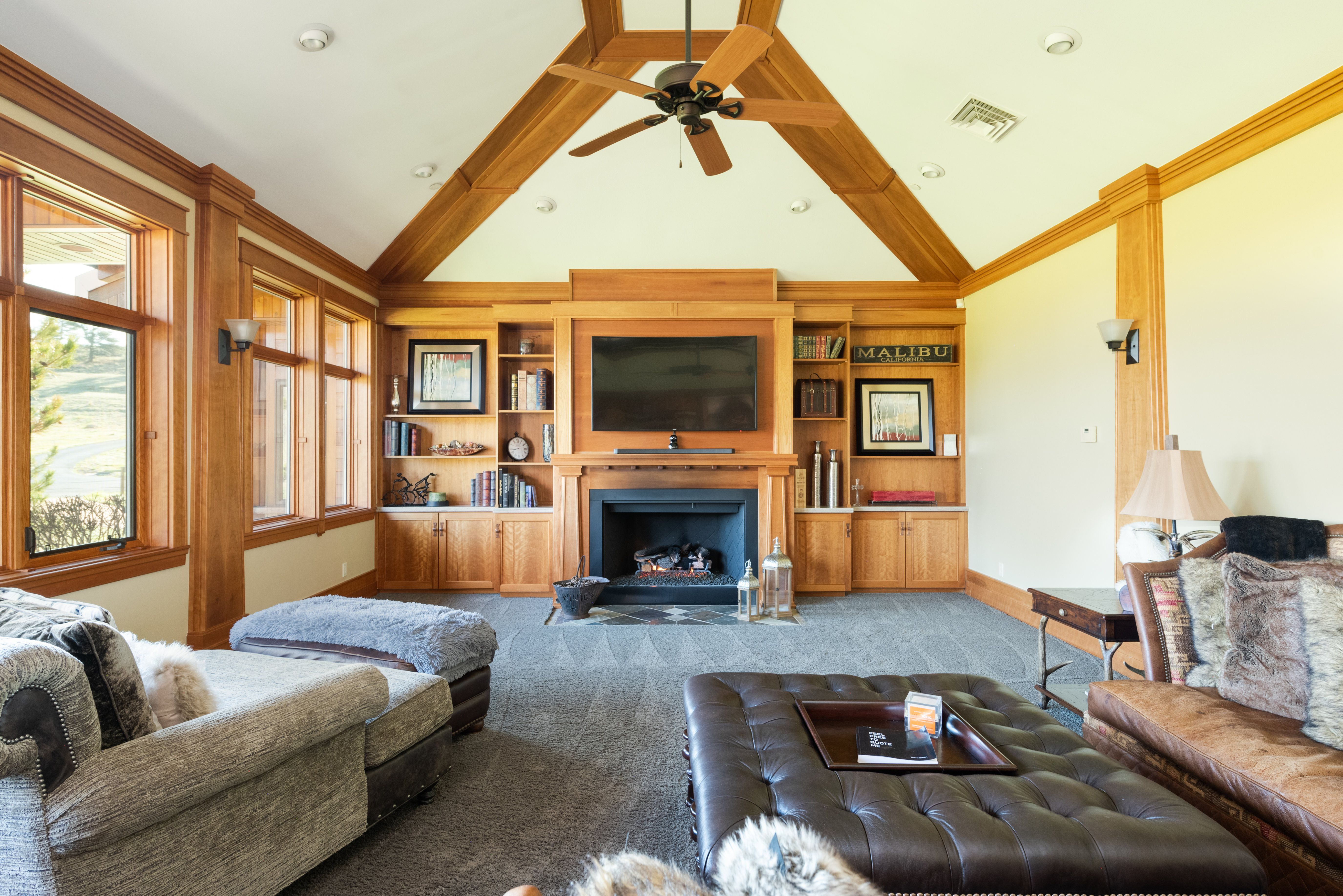 Colorado Mountain house on 35 acres asks $7M living room