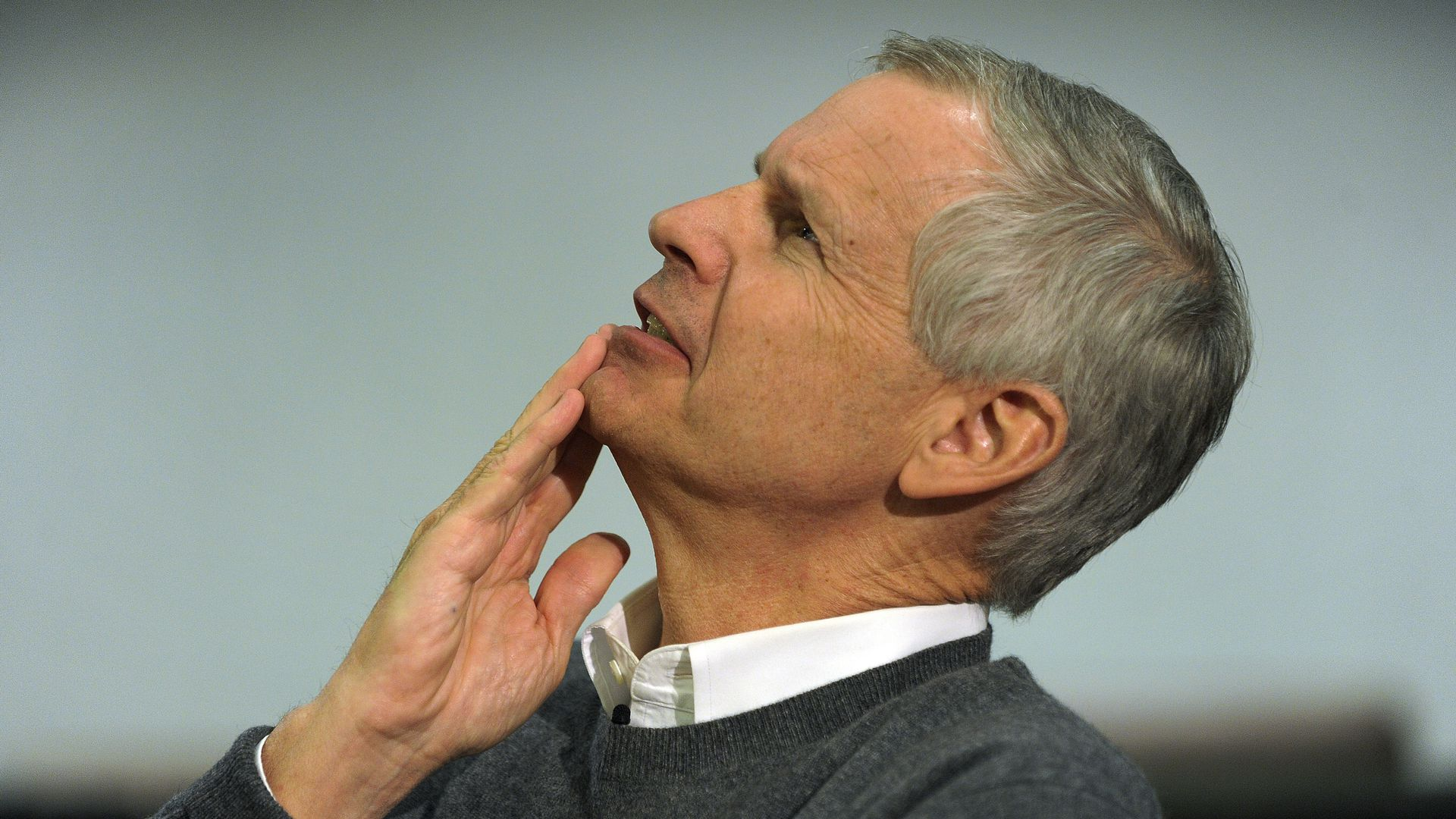 Photo of Dish chairman Charlie Ergen looking up