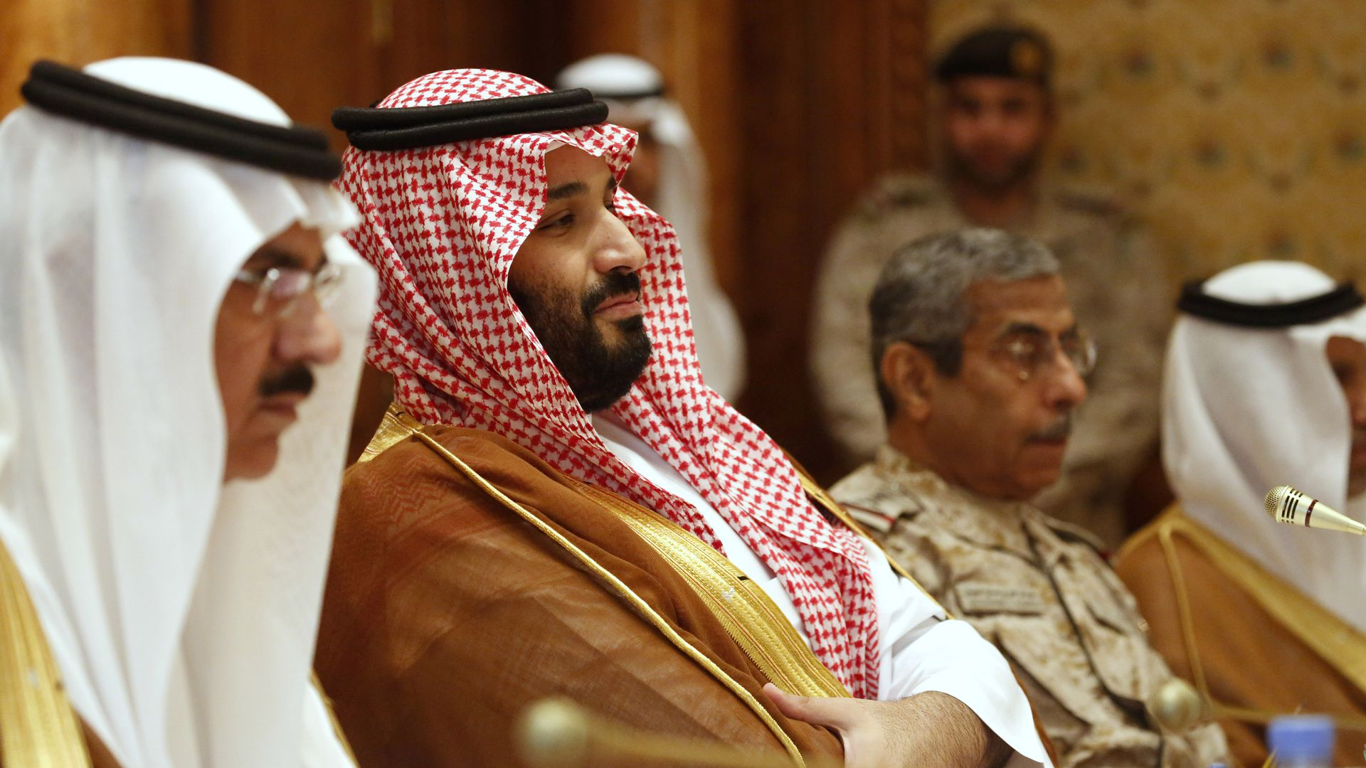 The Saudi crown prince during Defense Secretary James Mattis' visit to Riyadh last year
