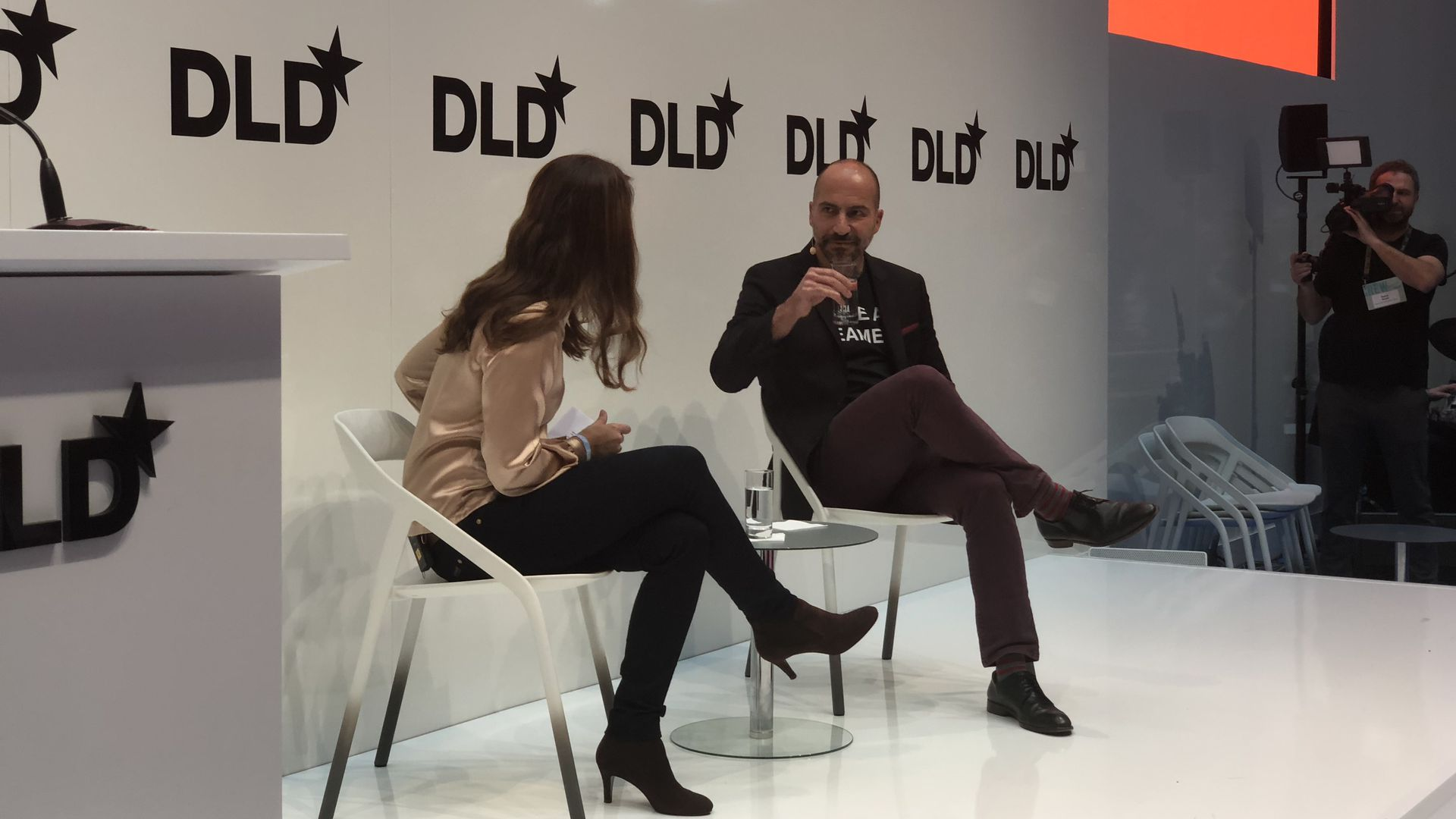 Uber CEO speaking at DLD 18