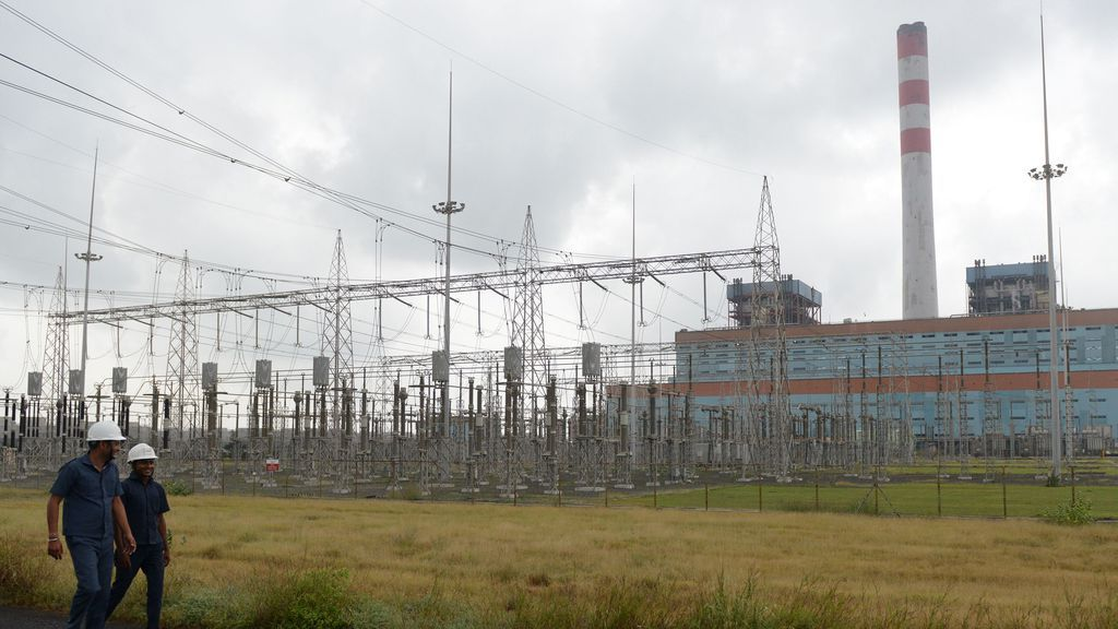 Photo of coal-fired plant