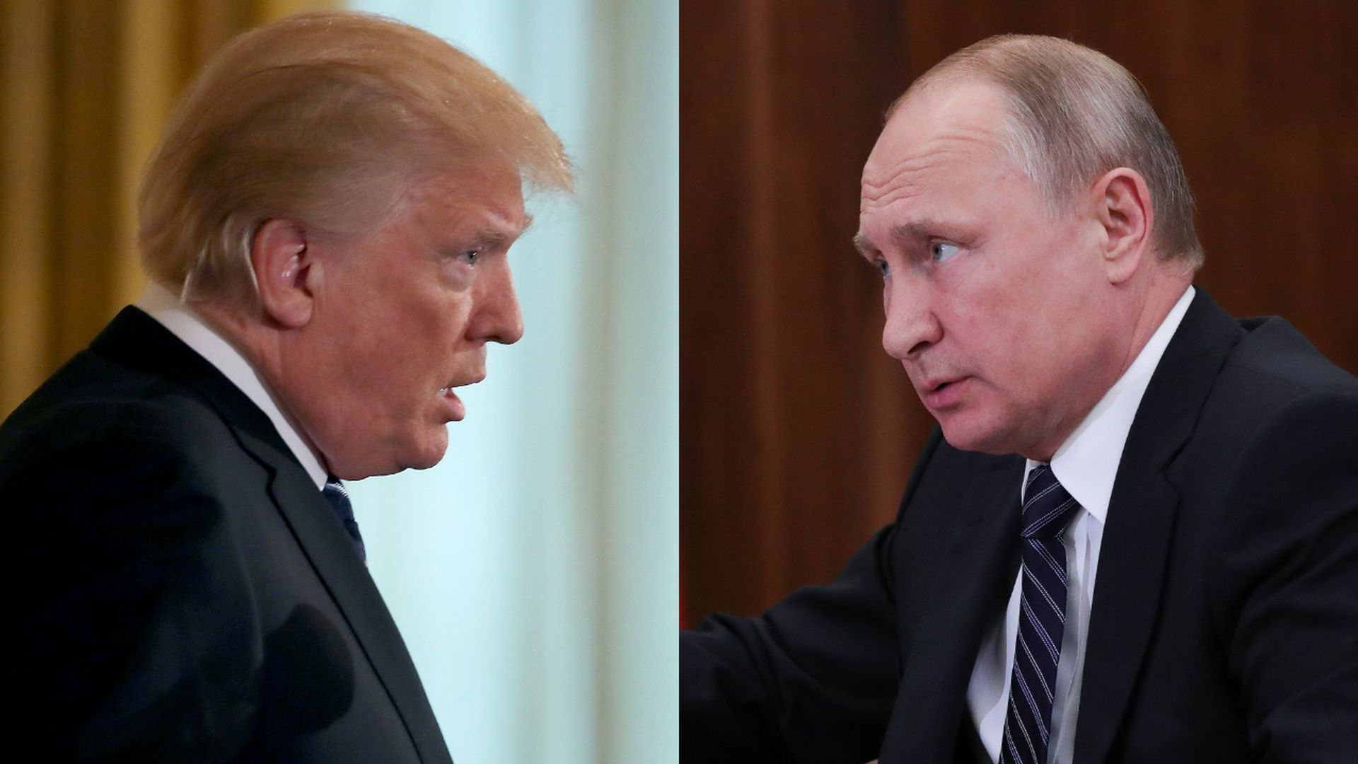 Russian President Vladimir Putin and President Donald Trump
