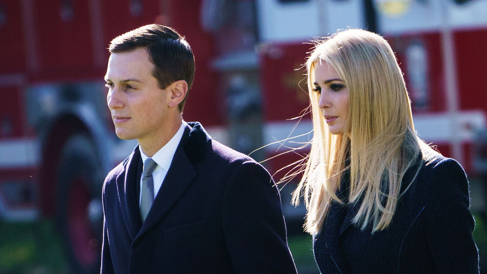 Jared Kushner and Ivanka Trump head to Pittsburgh in October after the synagogue shooting. (Mandel Ngan/AFP/Getty Images)