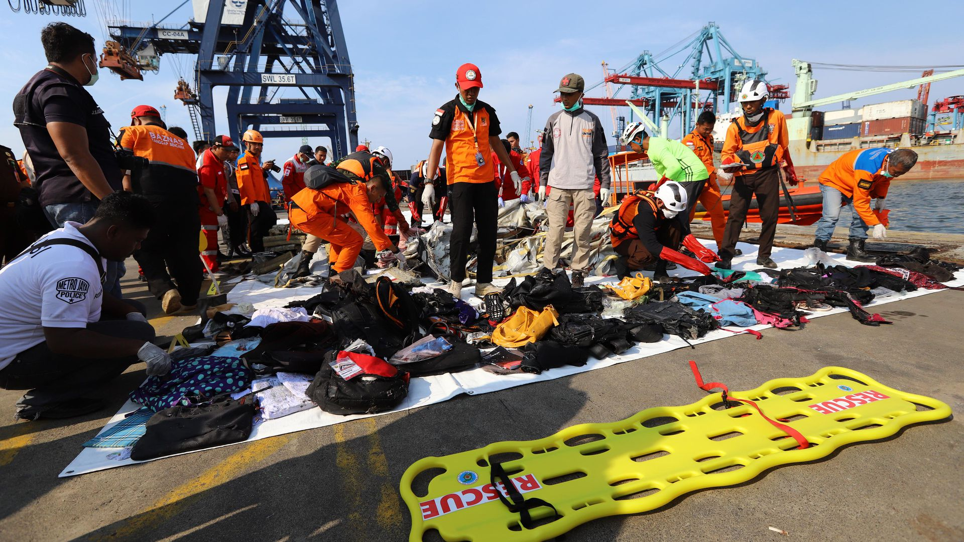 Rescue operations in Indonesia