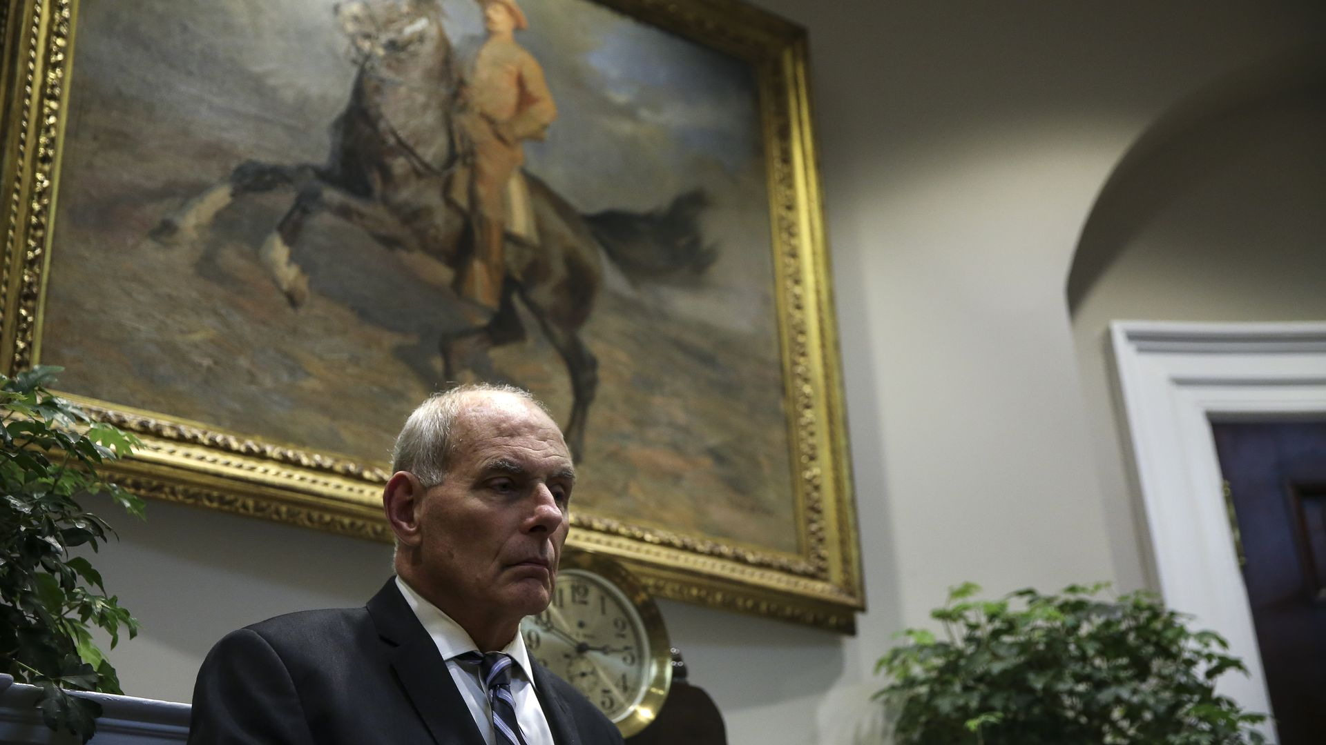 White House Chief of Staff John Kelly: Photo by Oliver Contreras - Pool/Getty Images