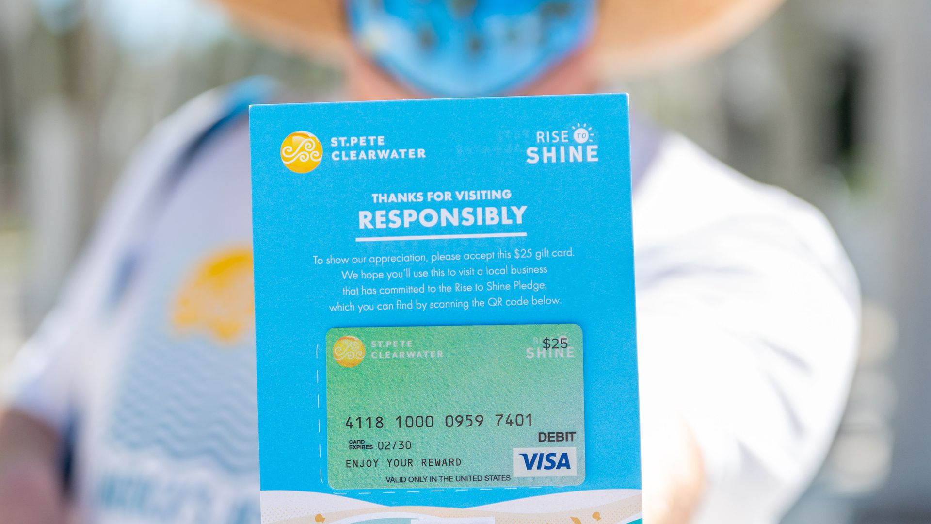 Picture of a Visa gift card
