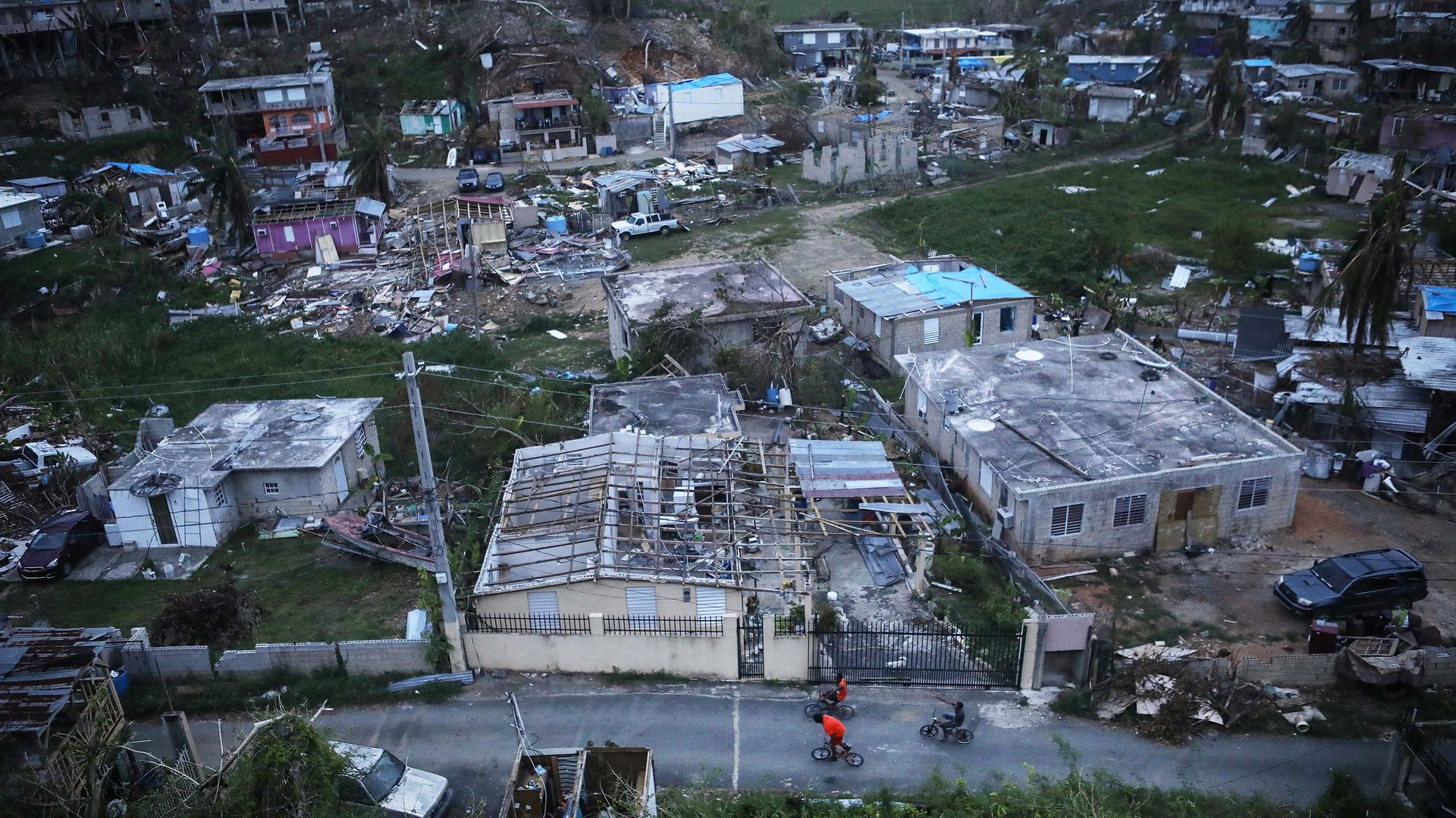 Two weeks after Hurricane Maria swept through Puerto Rico in 2017.