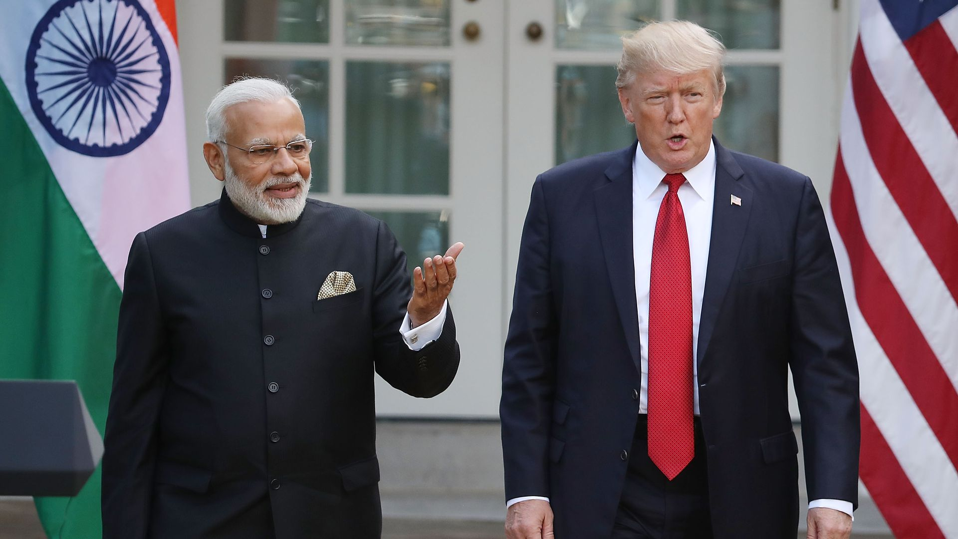 President Trump and Indian Prime Minister Narendra Modi