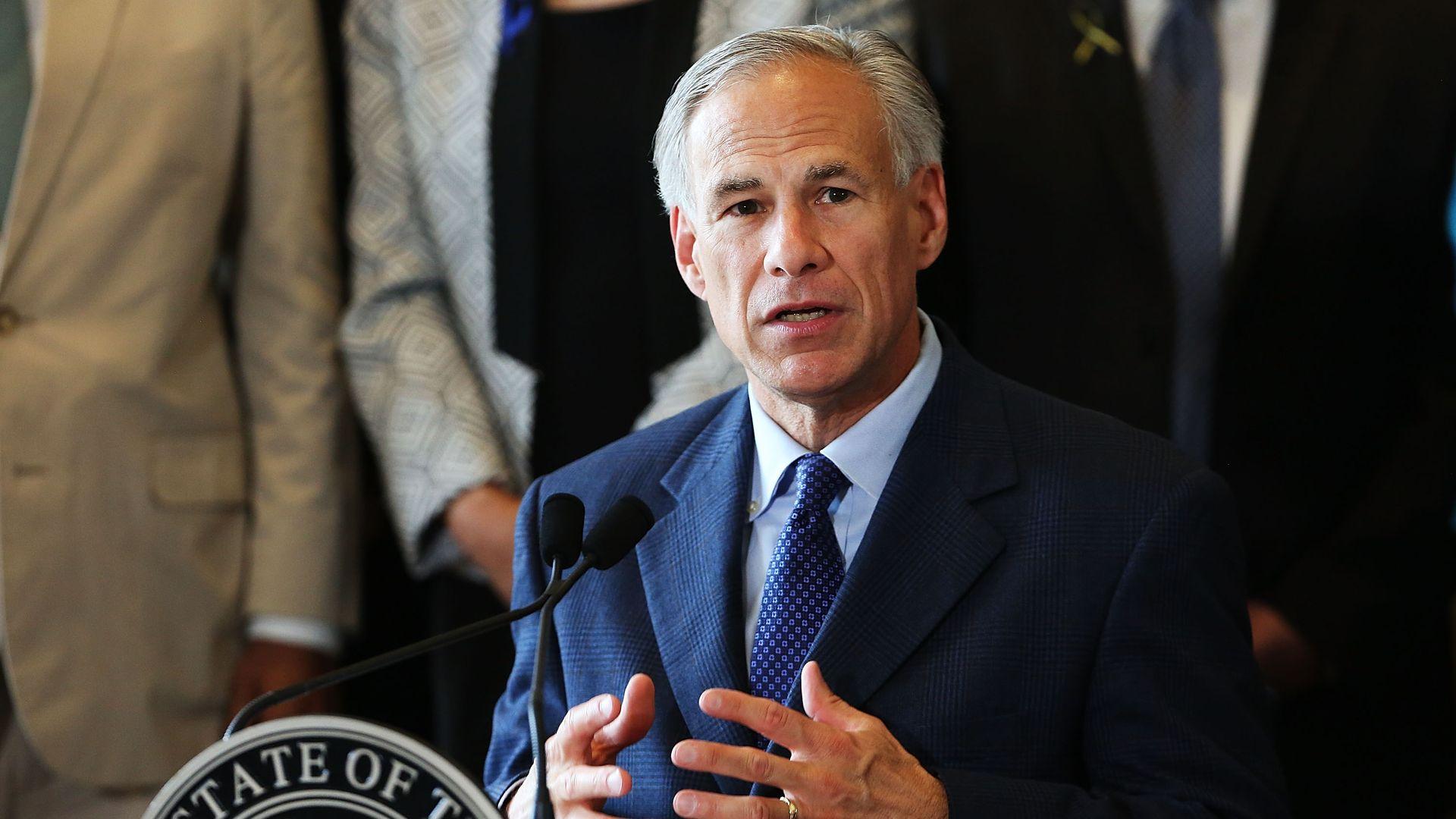 Texas Gov. Greg Abbott (R).