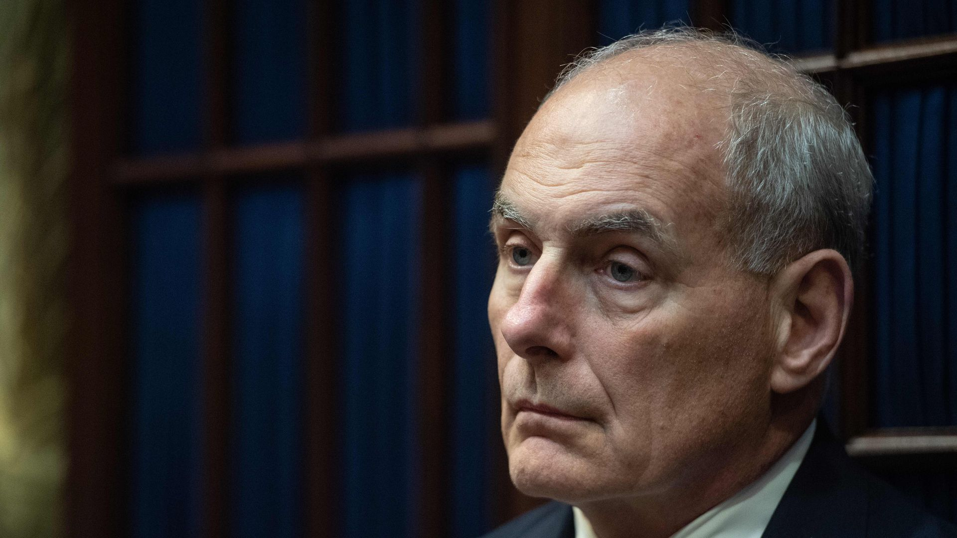 John Kelly looks despondent.