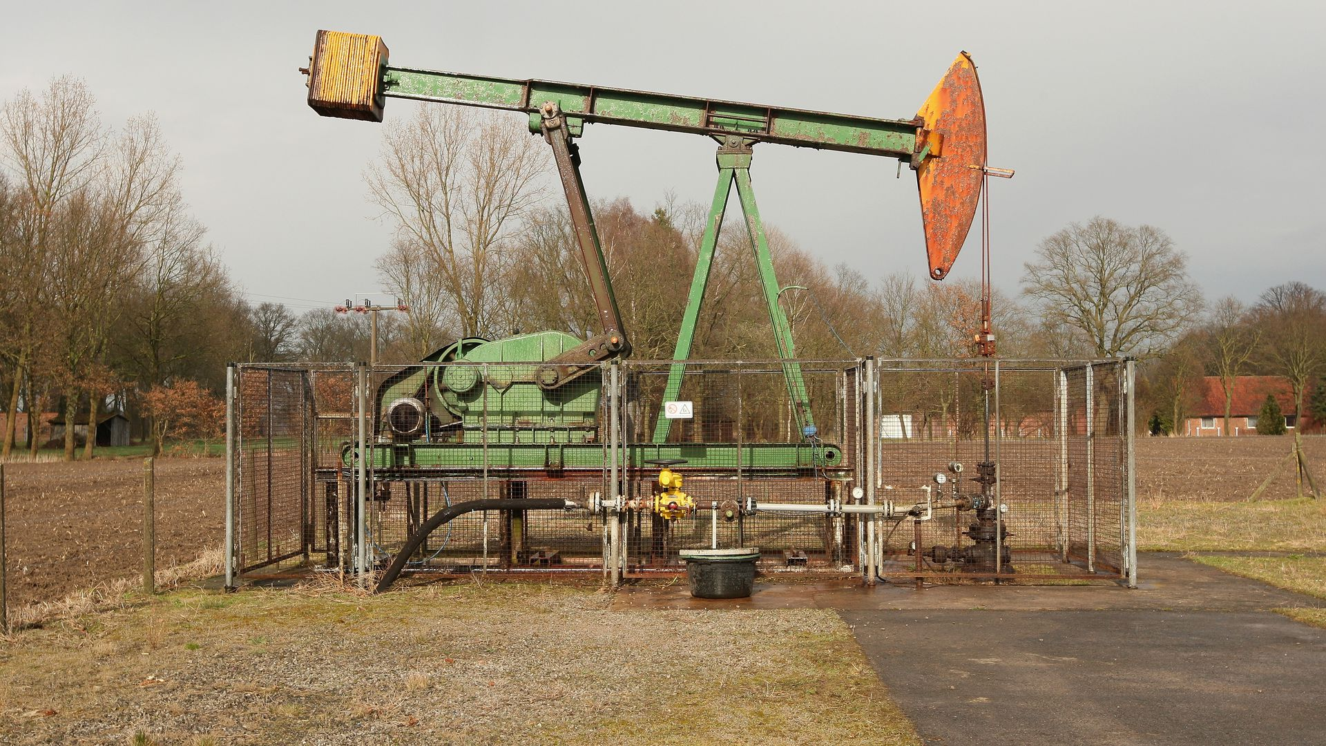 An oil pumpjack operated by ExxonMobi