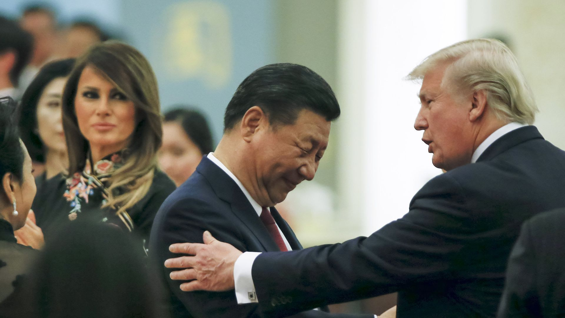 Presidents Trump and Xi.