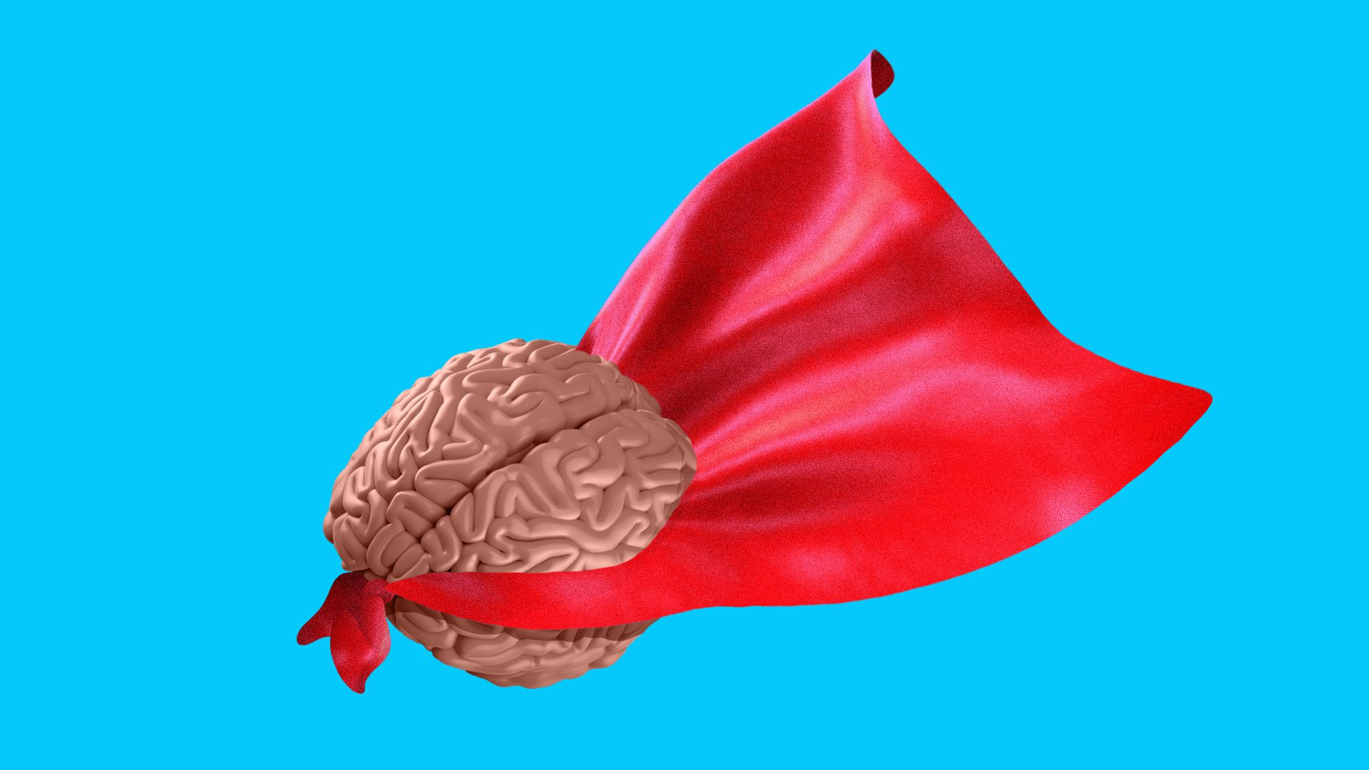 Illustration of brain wearing a cape.