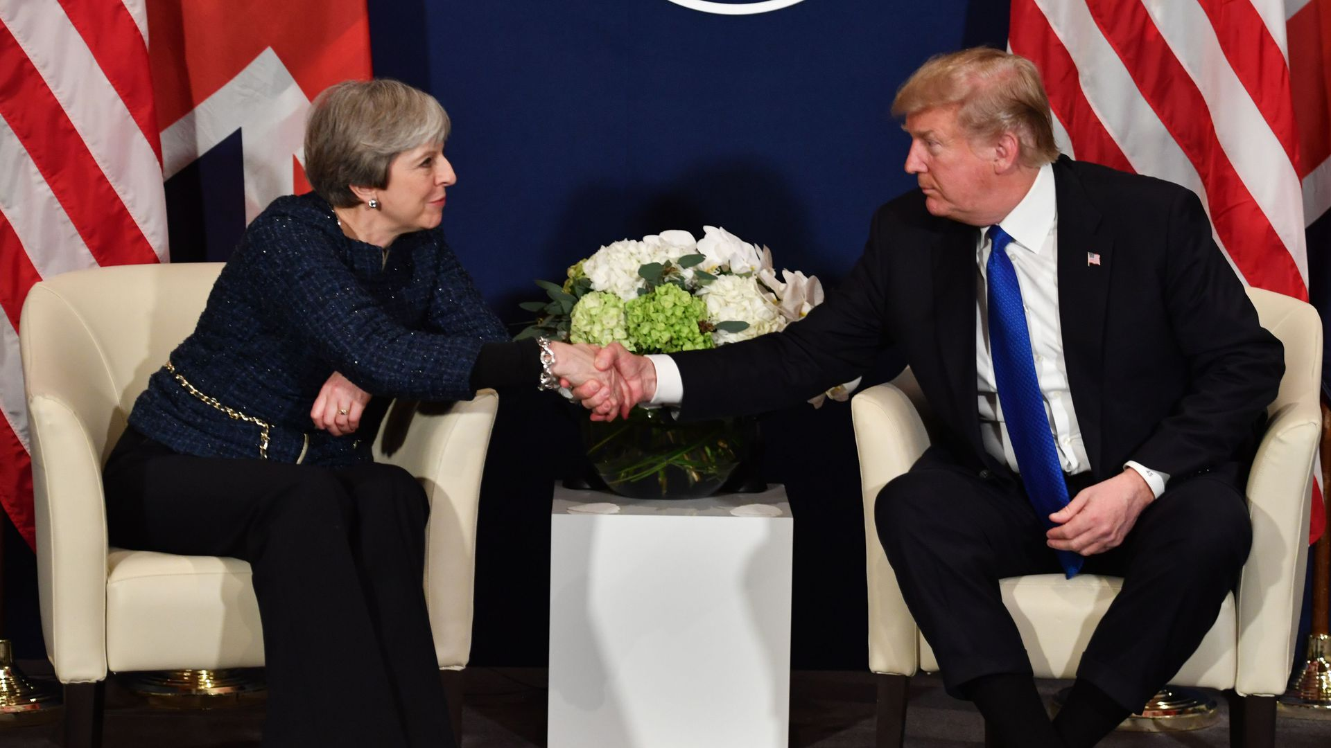 Trump with Theresa May