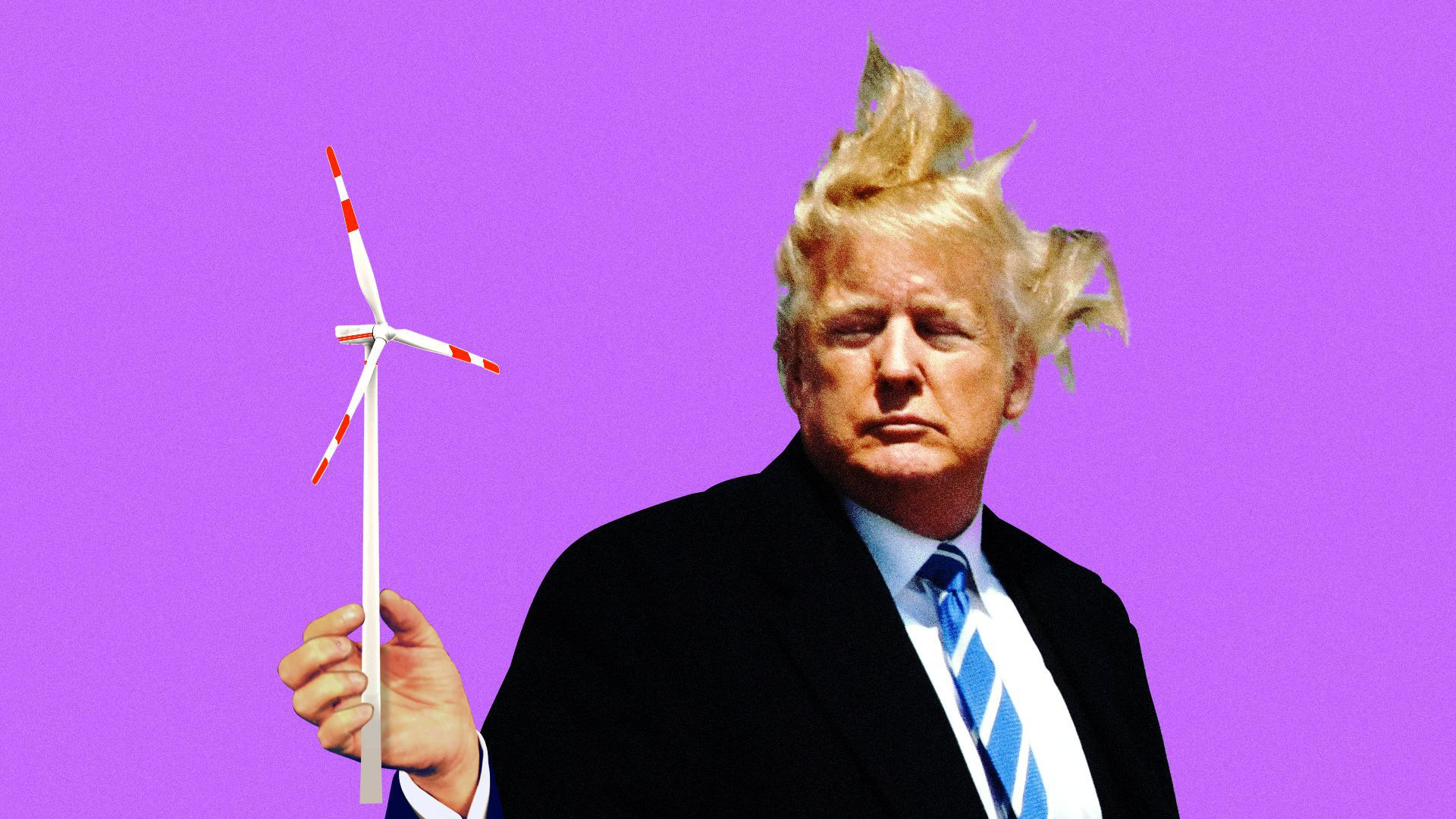 Illustration for story on Trump's energy policy