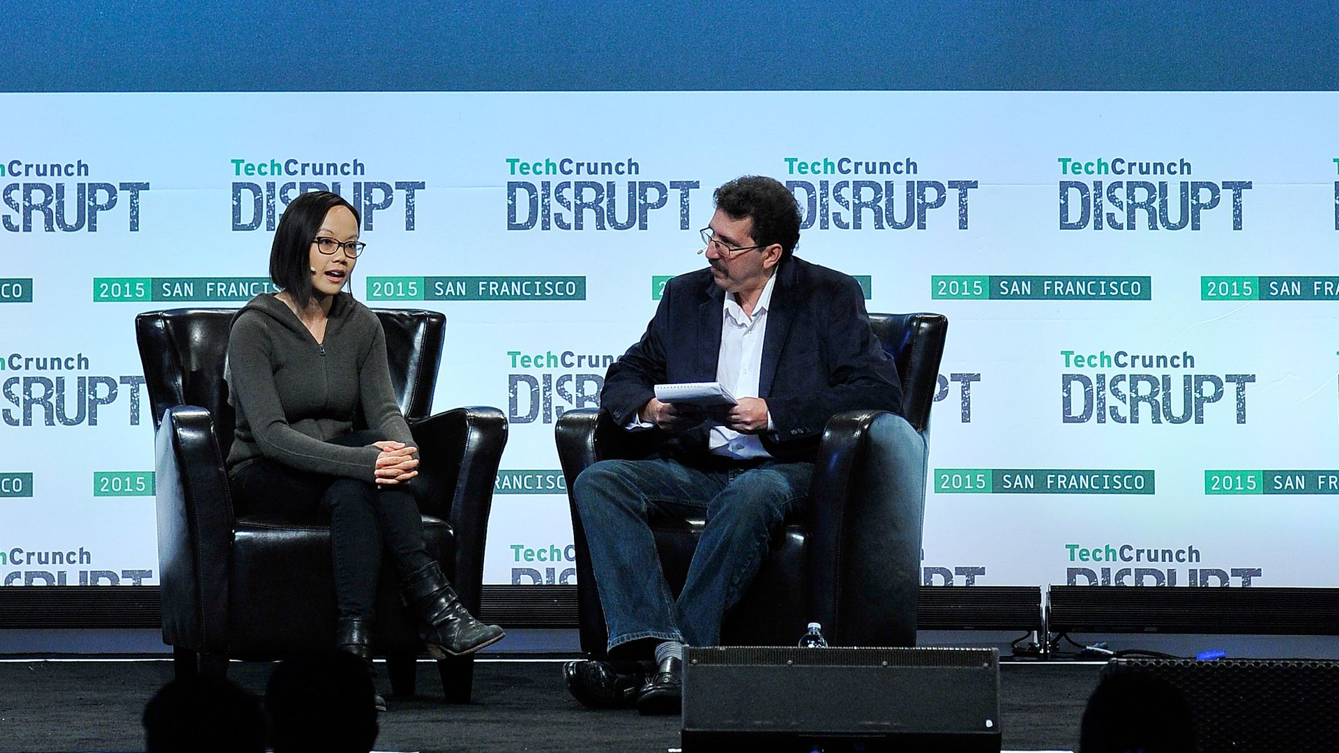 Photo of  Plangrid co-founder and CEO Tracy Young at TechCrunch Disrupt.