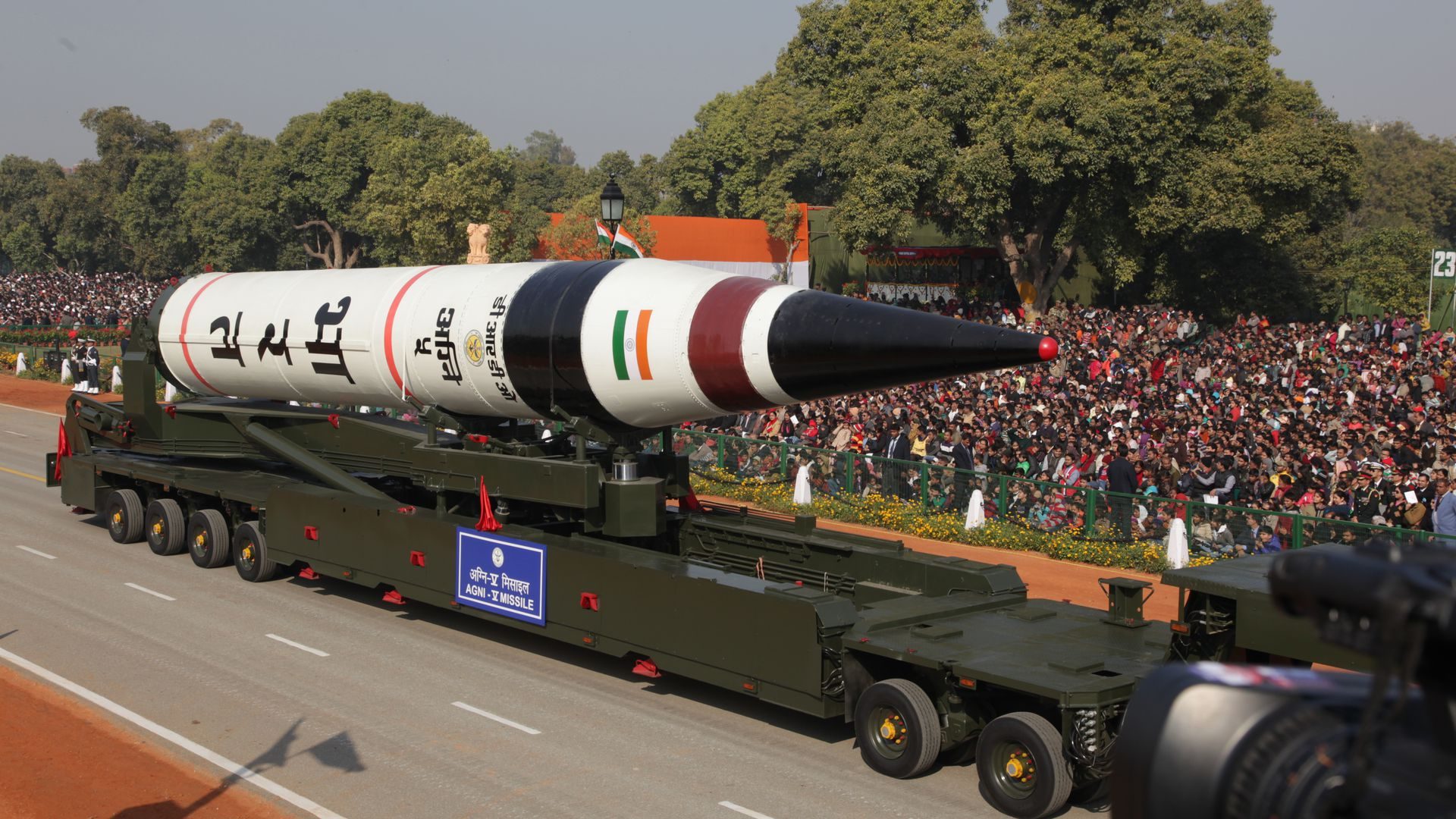 India's Agni 5 ballistic missile in 2013.