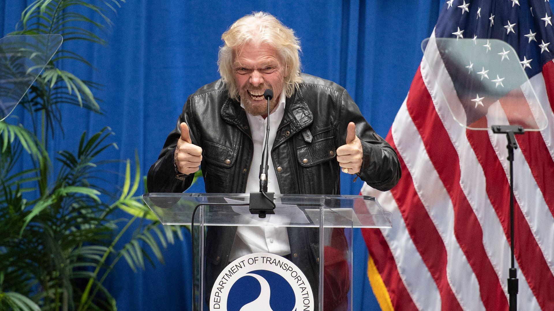 Virgin Galactic founder Sir Richard Branson