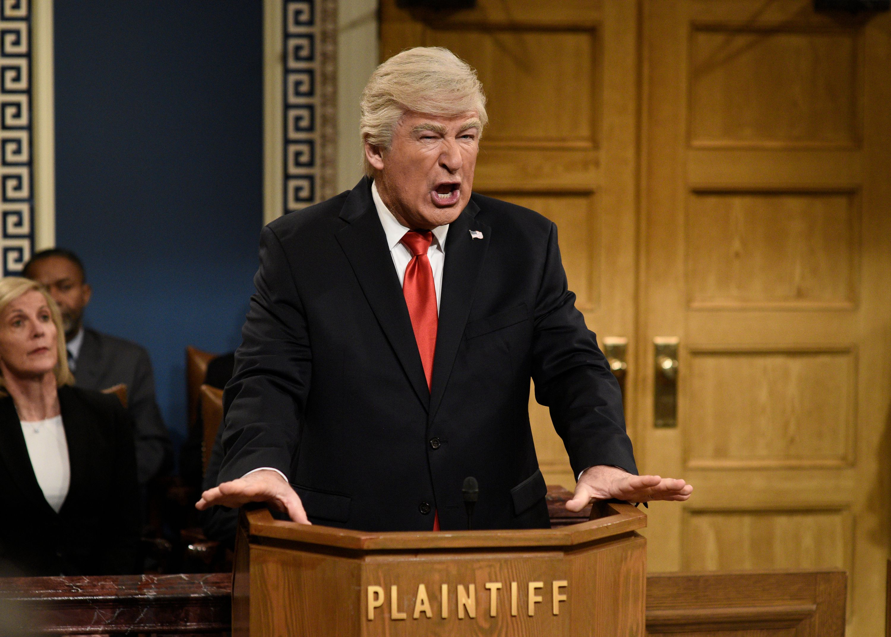 """""""SNL"""": Baldwin back as Trump for impeachment trial """"you wish happened"""" - Axios"""
