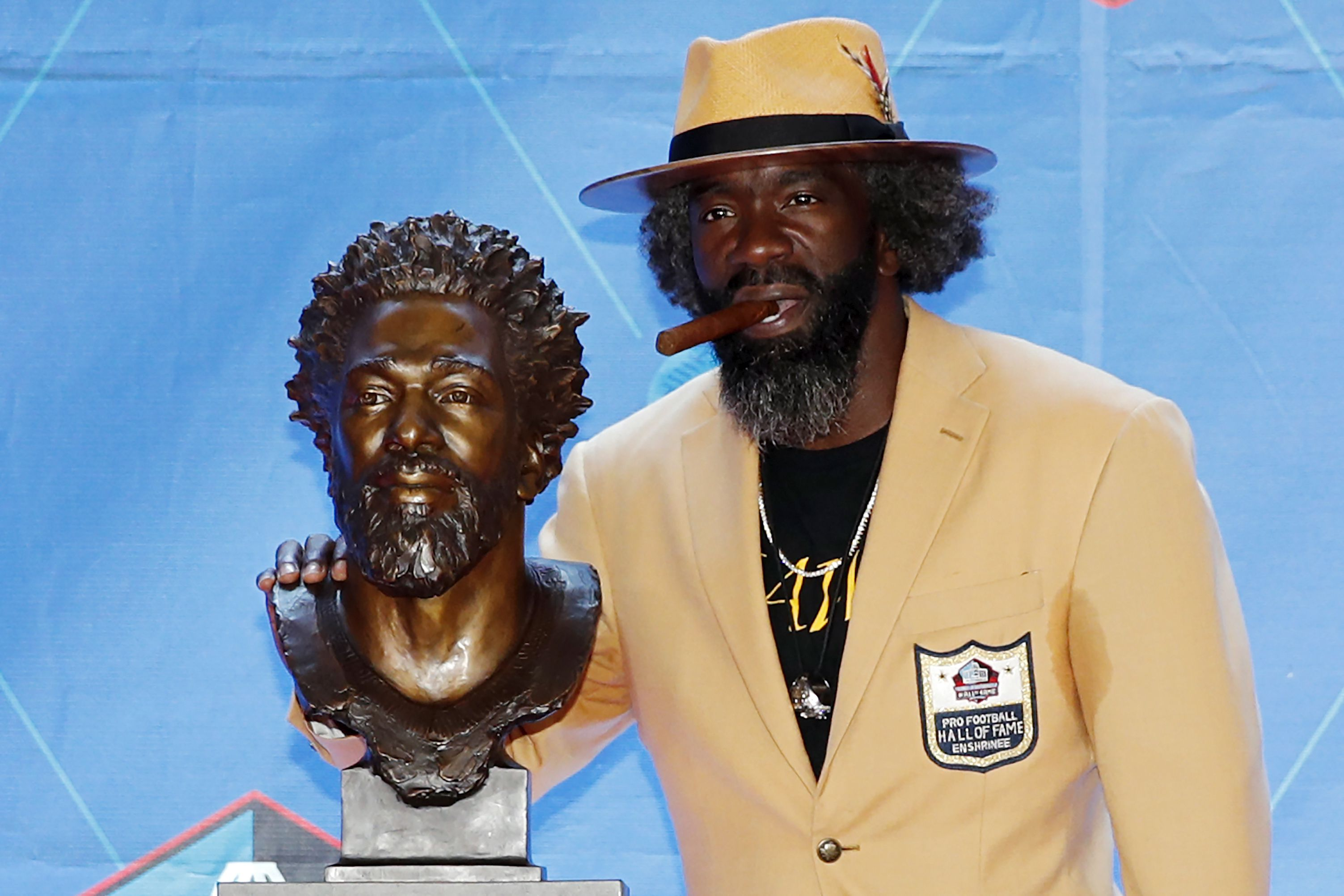 Ed Reed and his HOF bust