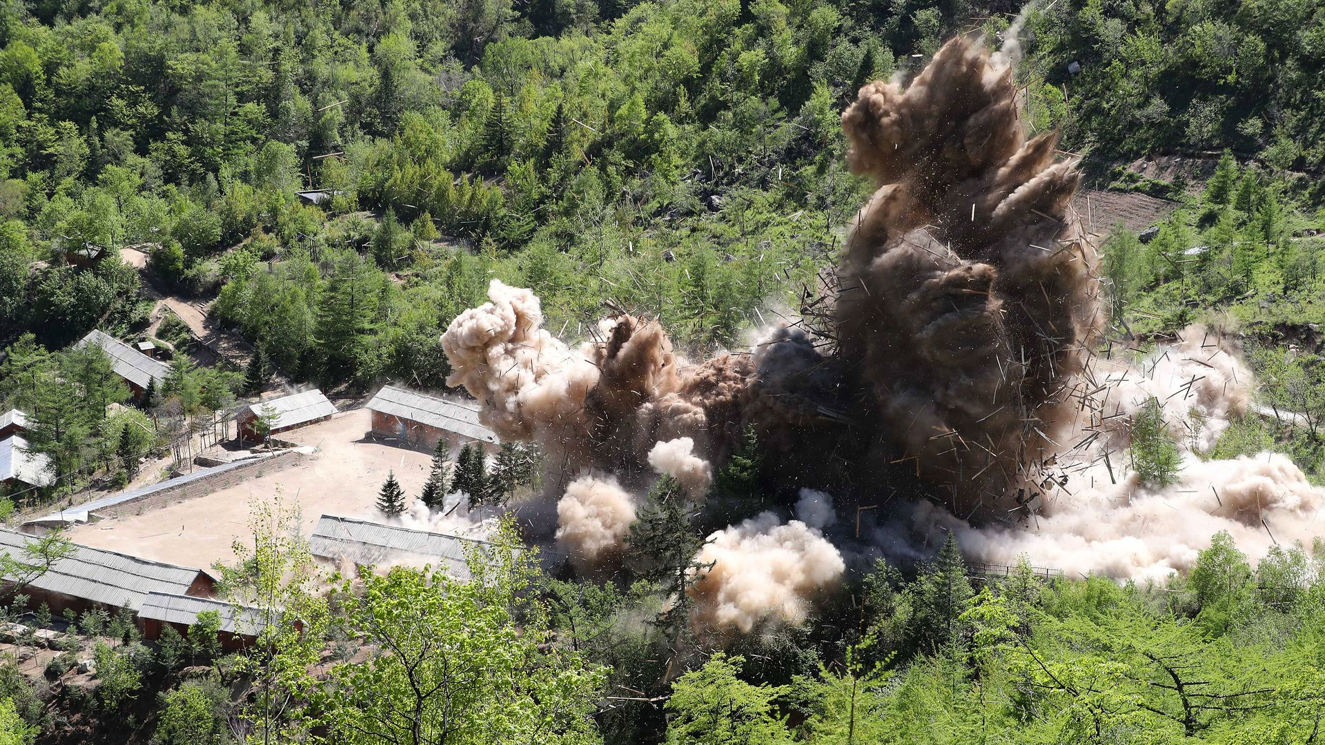 North Korea demolishes nuclear test site